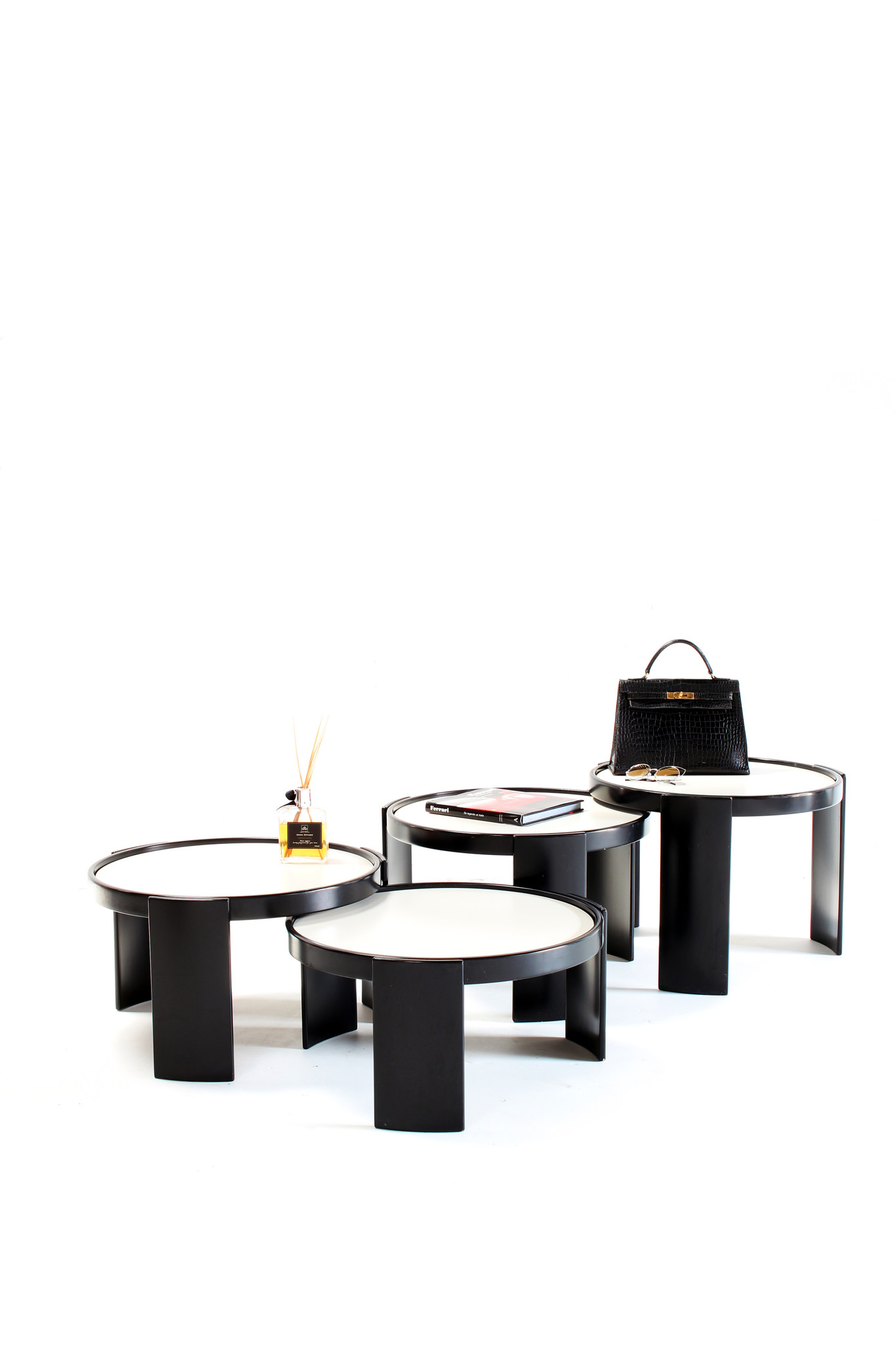 Gianfranco Frattini Low table set for Cassina, 1966