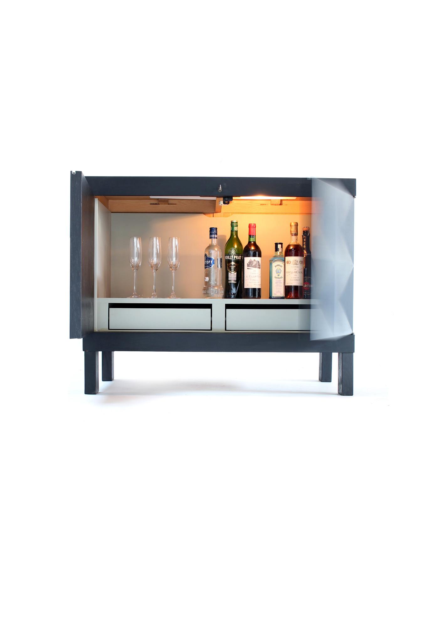 The Coene brutalist bar cabinet, 1960