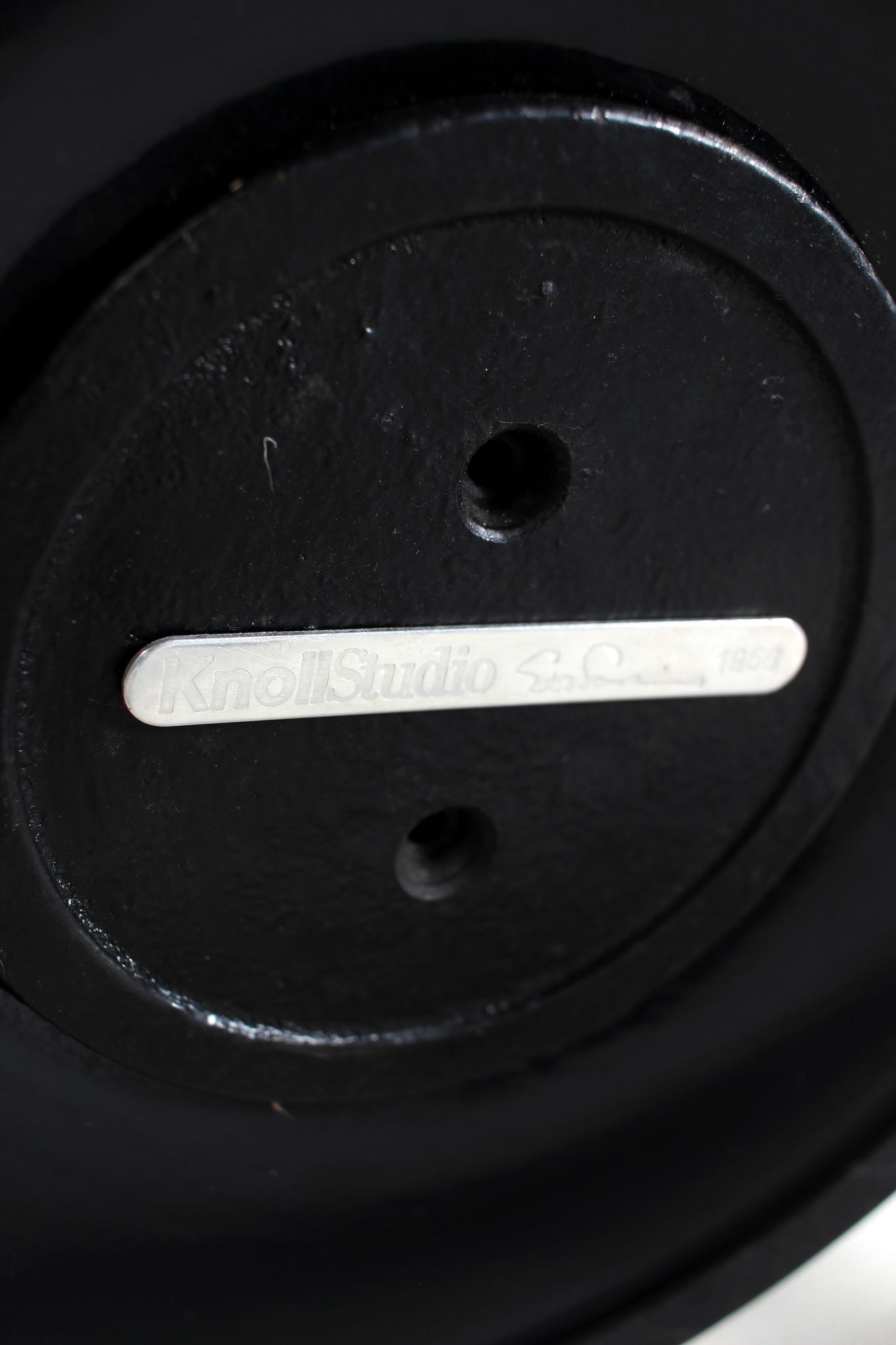 Knoll sidetable zwarte marmer