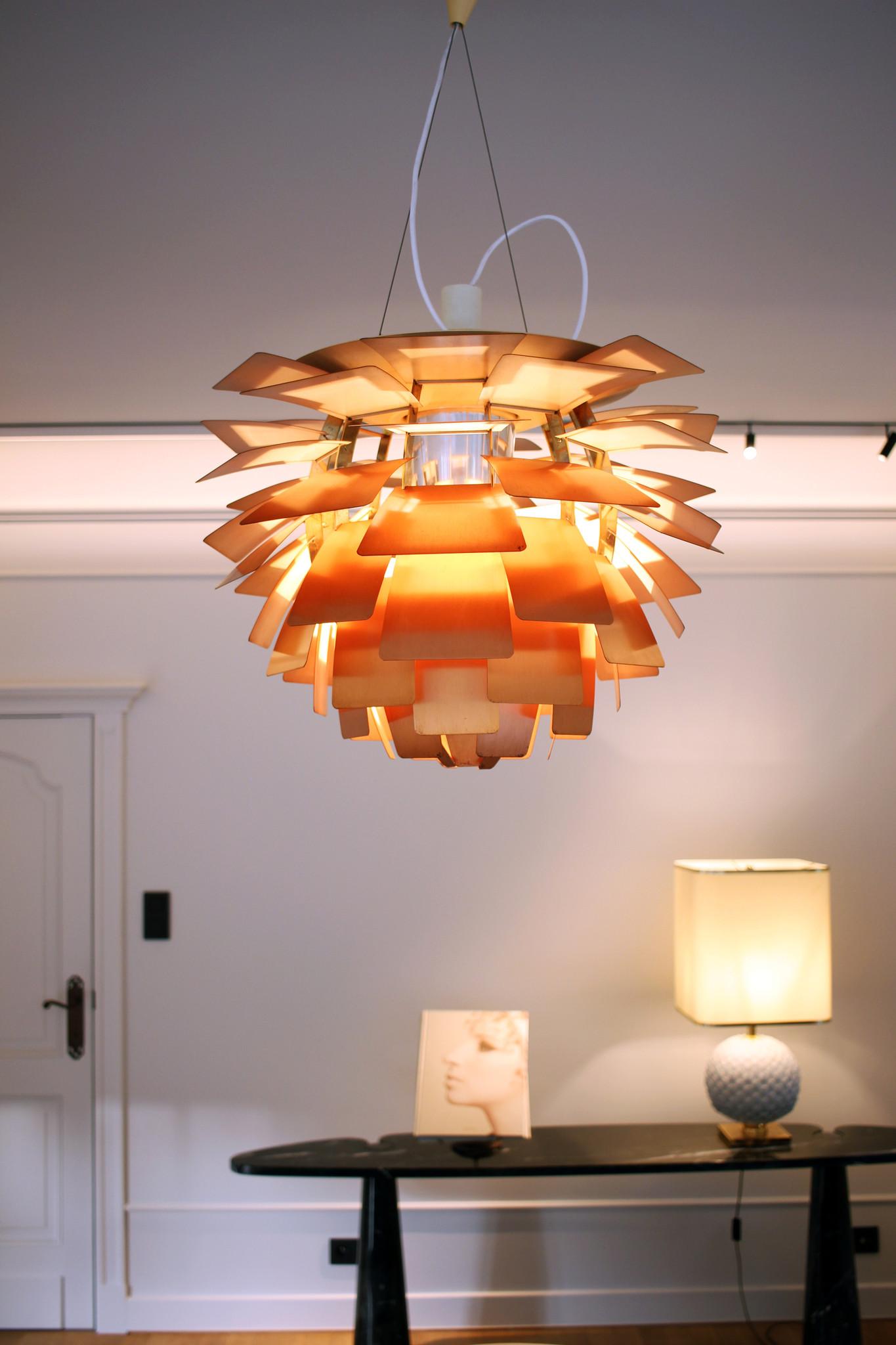 Vintage Artishoke lamp, copper version