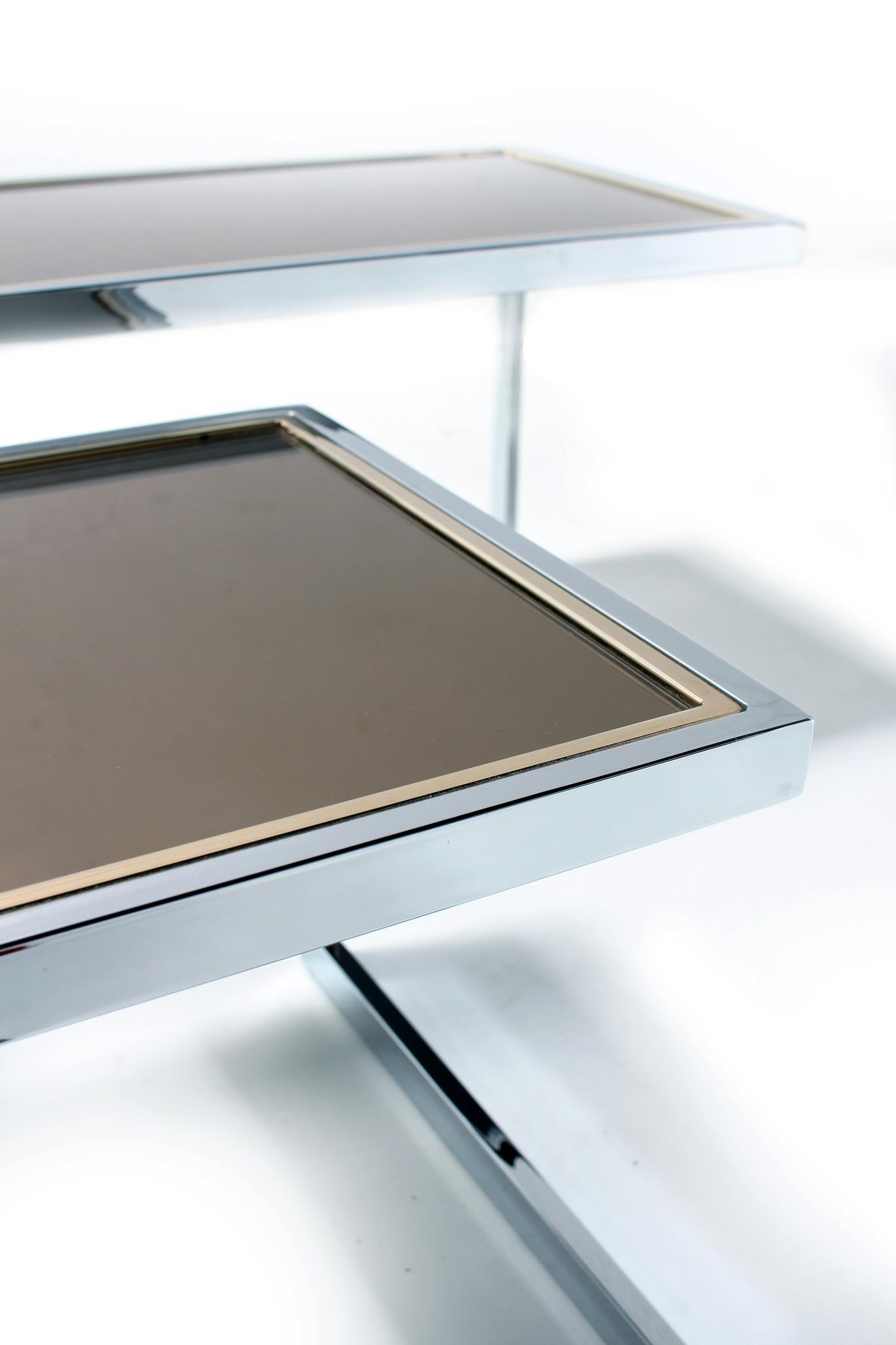 Belgo Chrom side tables, 23K Gold