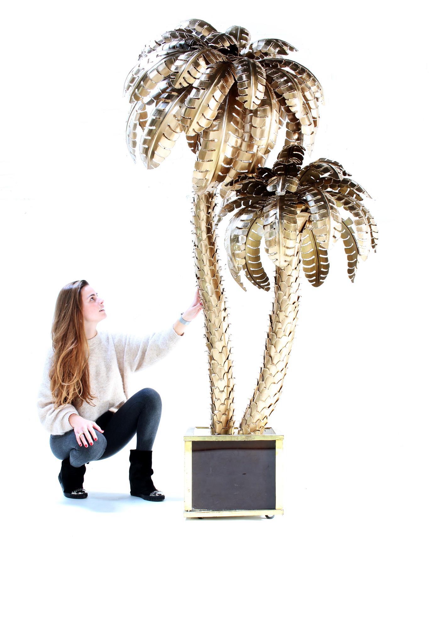 XXL Maison Jansen palmboom lamp