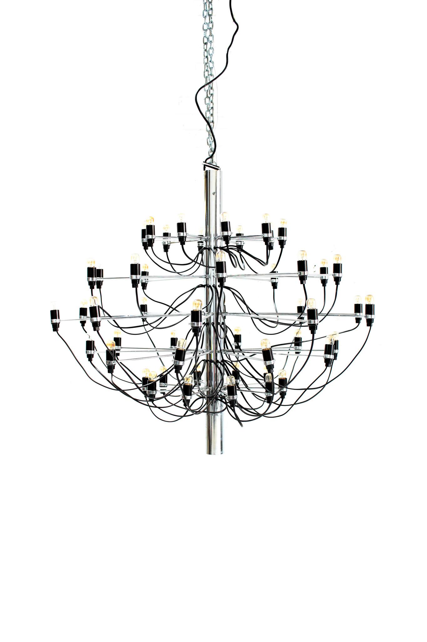 XL Flos Sarfatti chandelier in chrome, 1958
