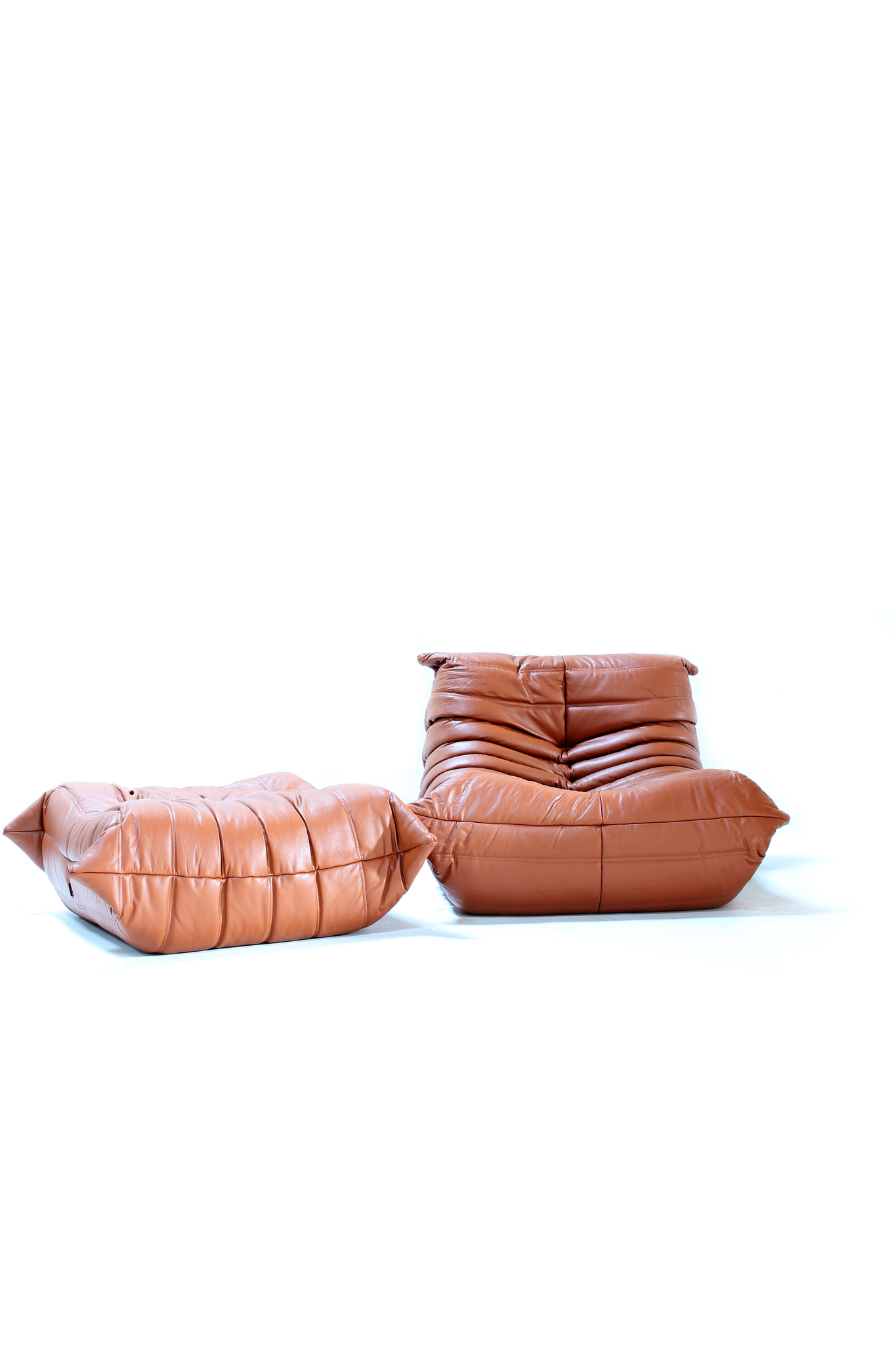 Ligne roset togo in cognac leather