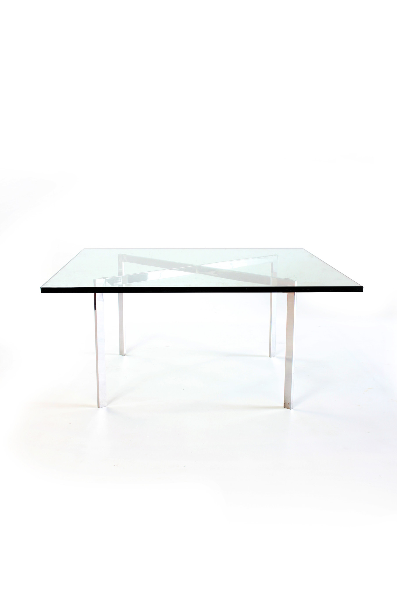 """Coffee table """"Barcelona"""" designed by Mies van der Rohe for Knoll"""