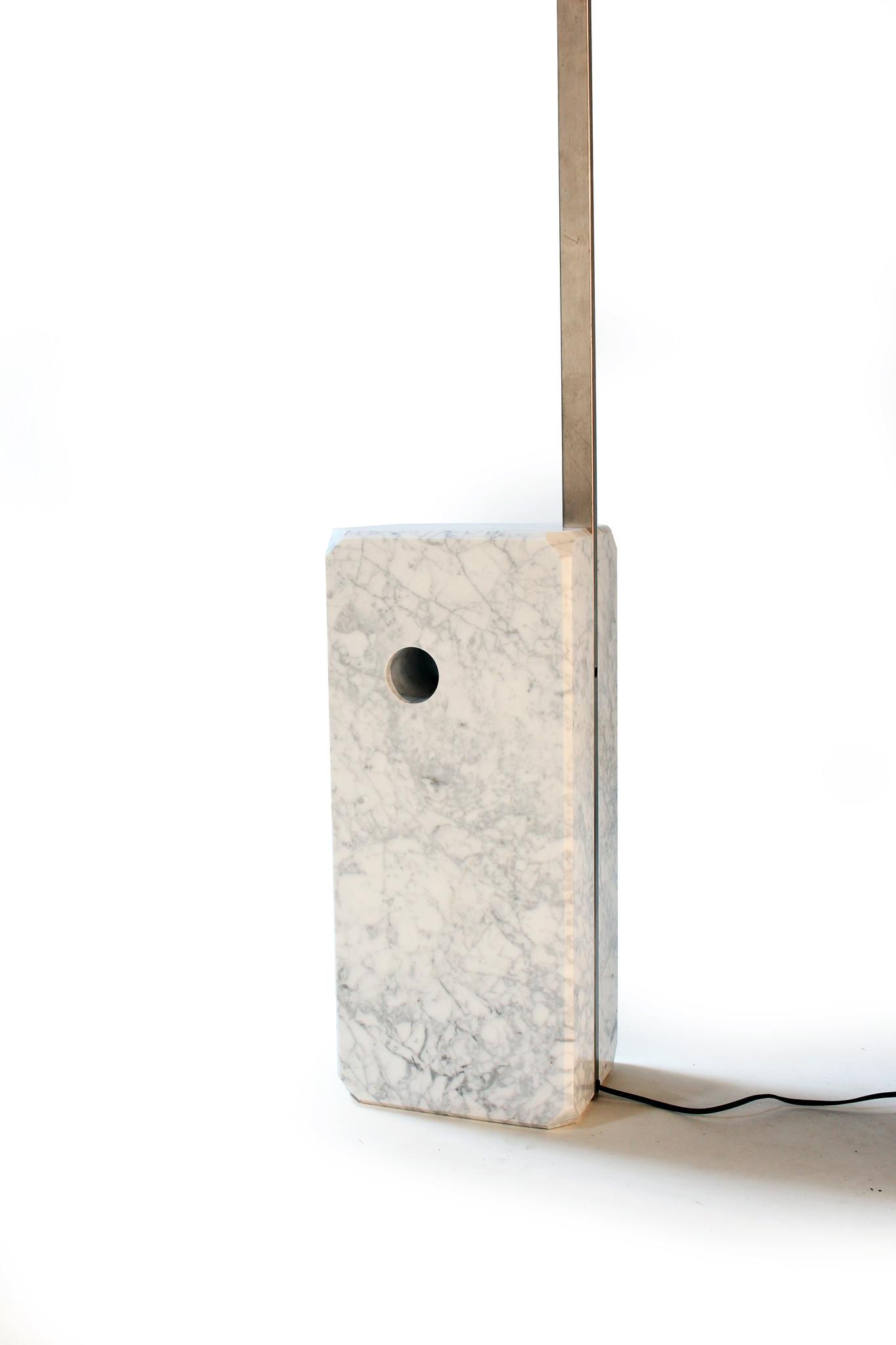 Vintage Flos booglamp ontworpen door Archille en Piere Giacomo Castiglioni in 1962