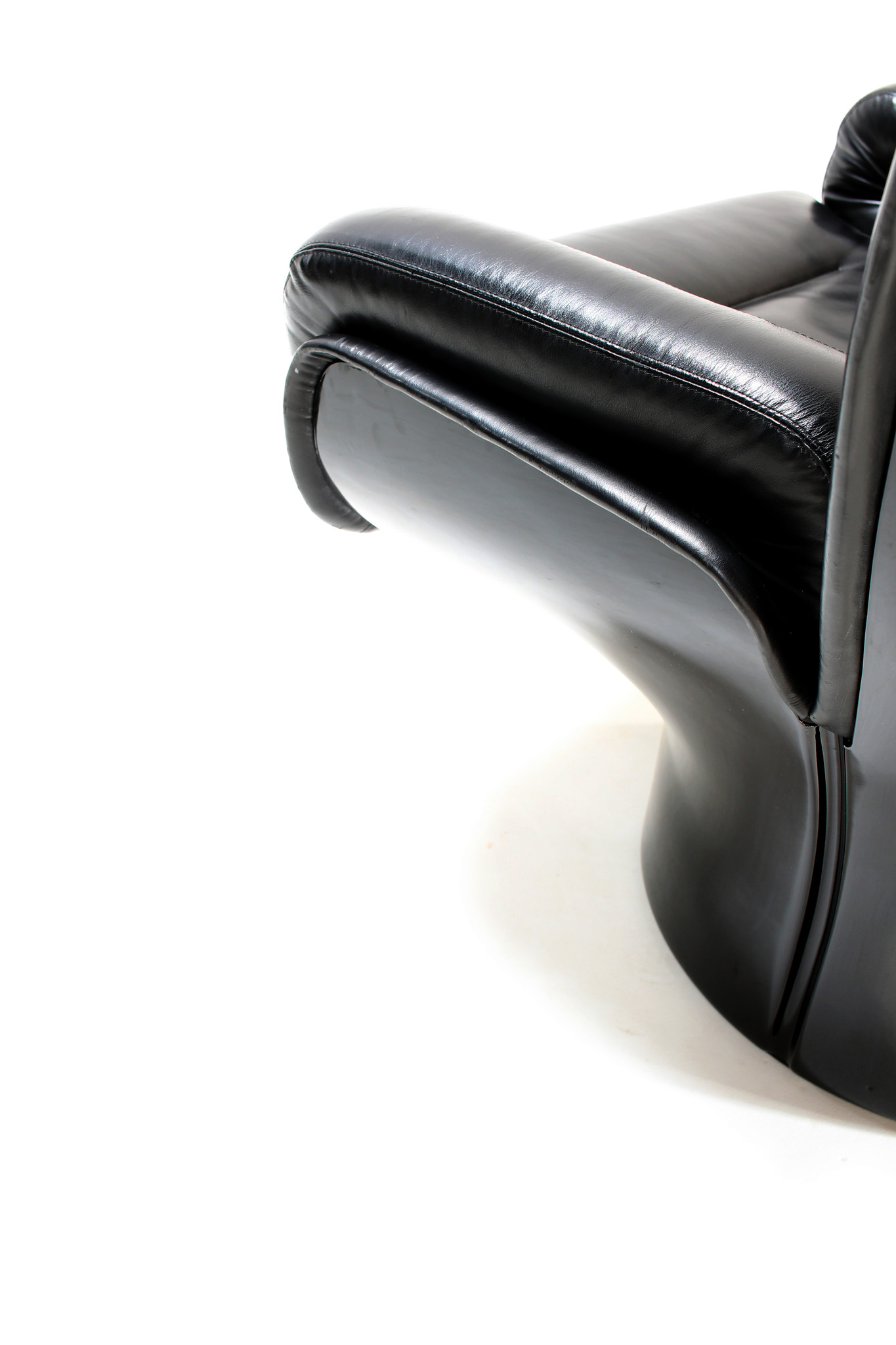 Rare Full Black Edition Elda Chair designed by Joe Colombo for Comfort, 1963