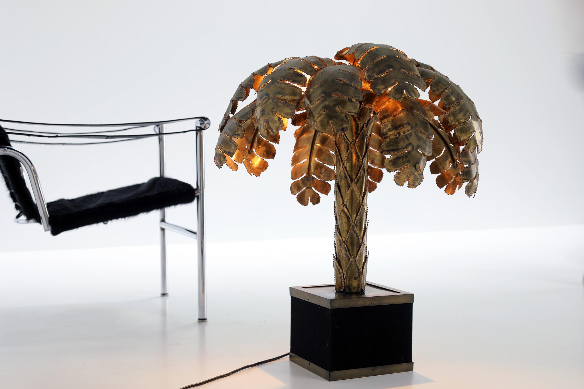 Maison Jansen palm tree lamp, 1970's