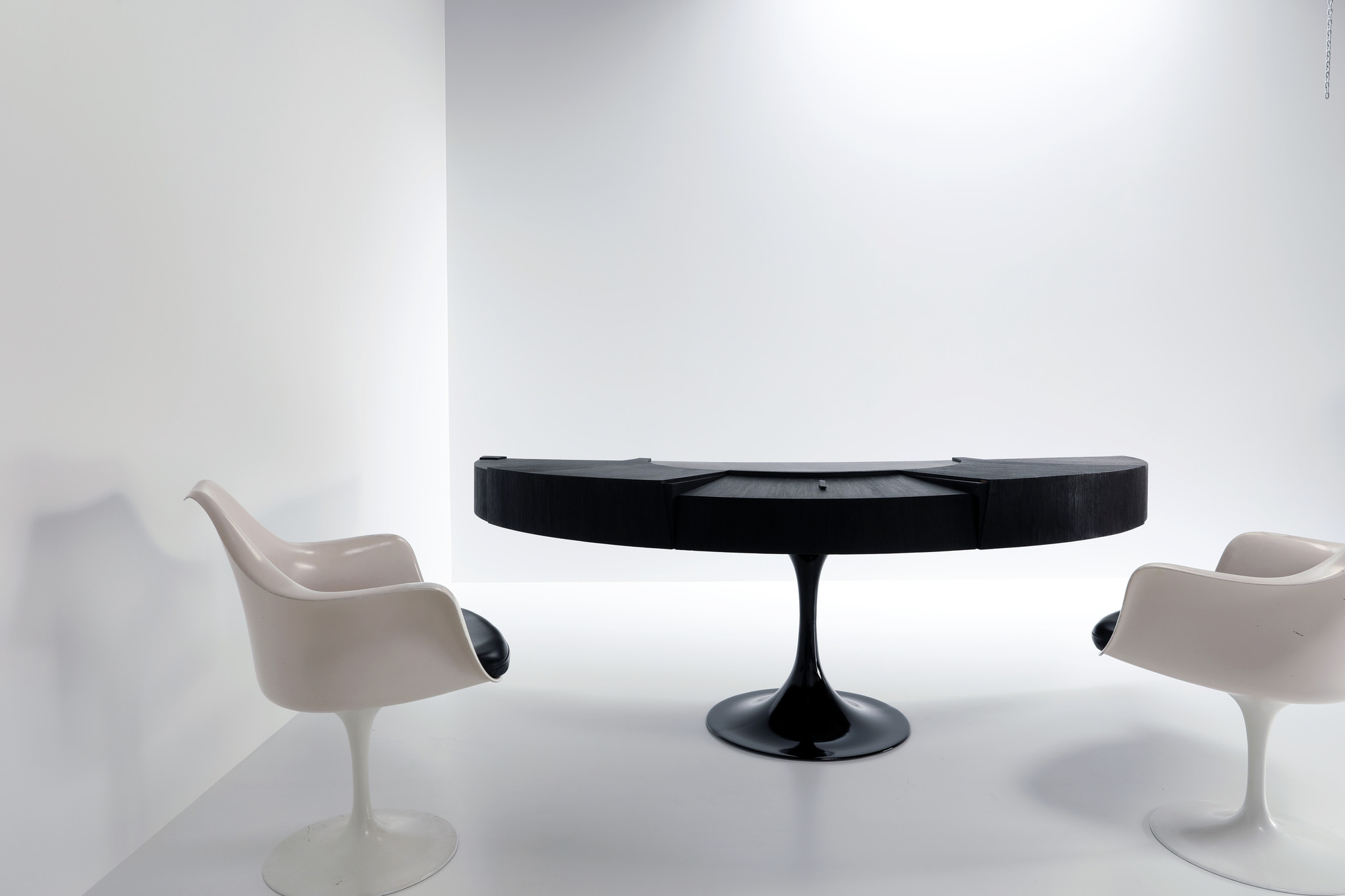 "Exclusive Space Age ""Boomerang"" executive desk, 1980's"