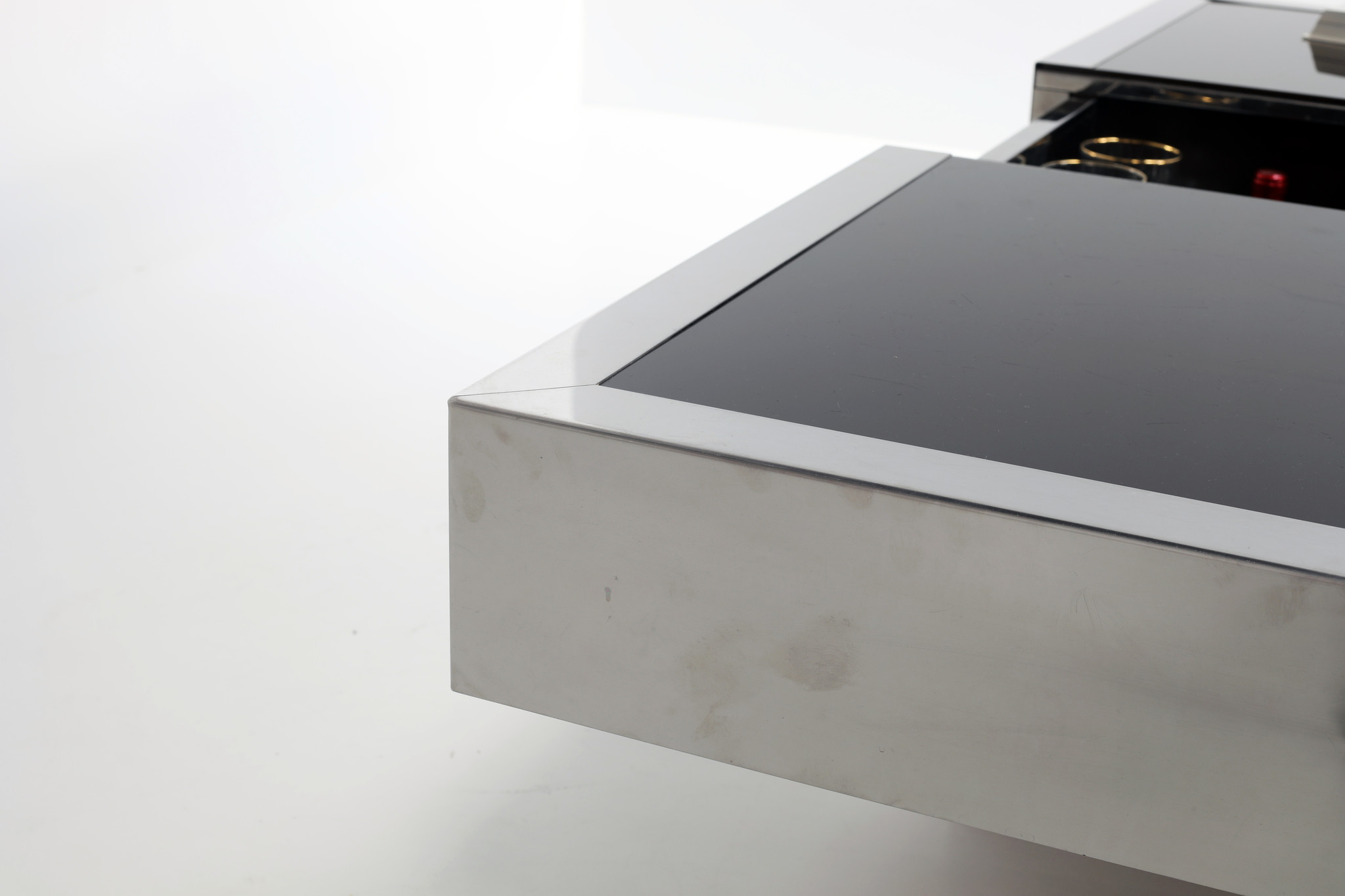 Willy Rizzo coffee table with hidden bar