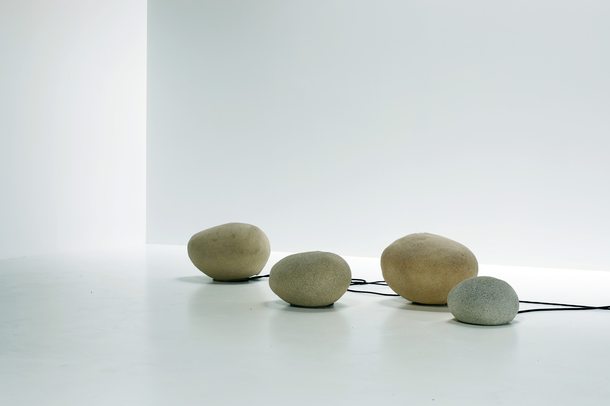 """Vintage stone floor lamps """"dorra"""" by andré cazenava 1969"""