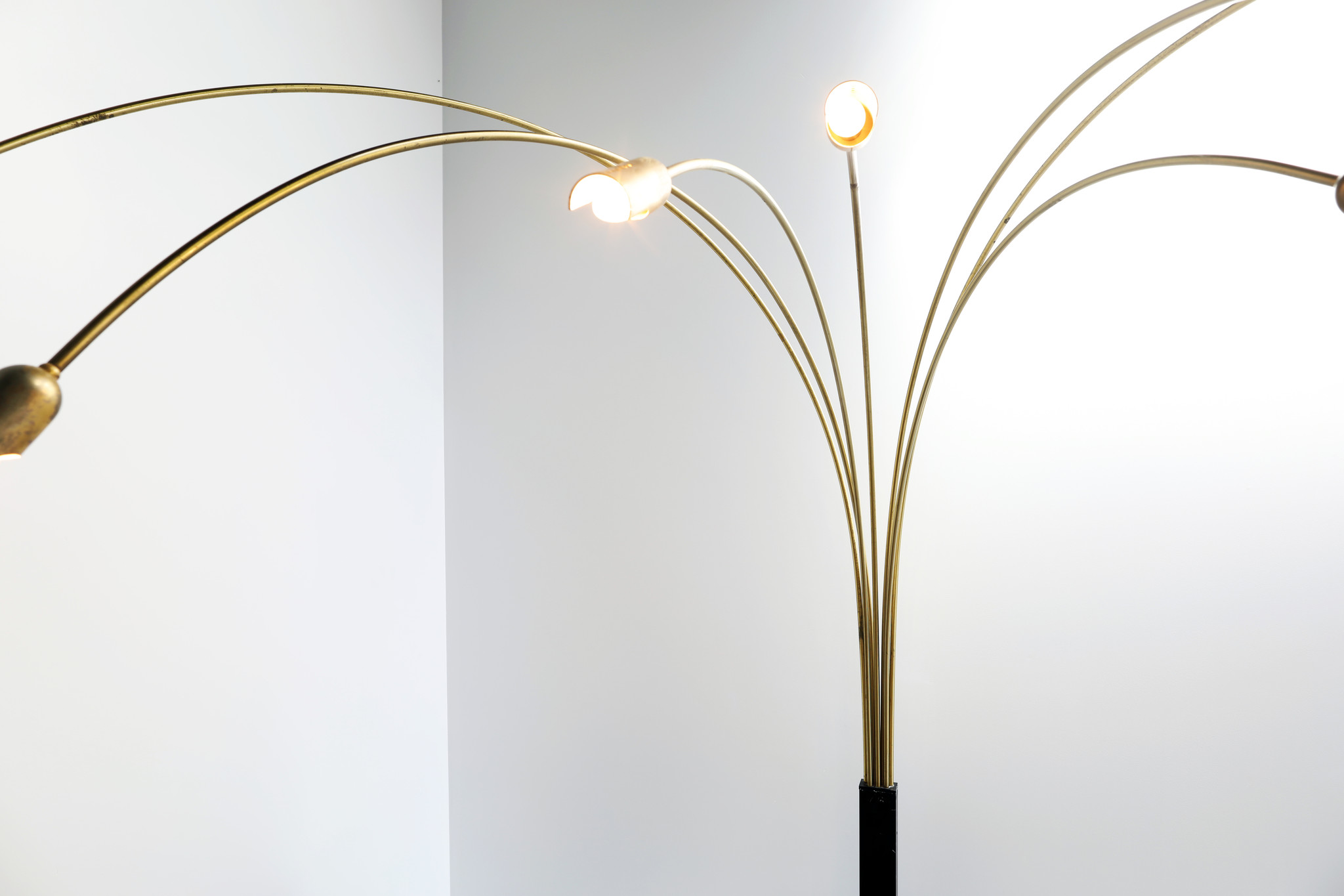 Italiaanse vintage booglamp met 7 armen