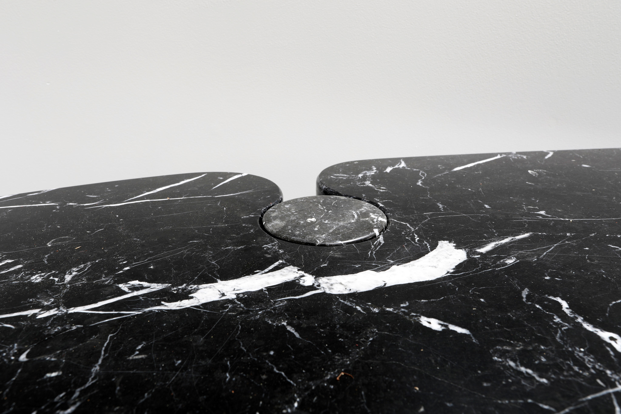 Angelo Mangiarotti Italian Eros Console for Skipper Black Marquina Marble
