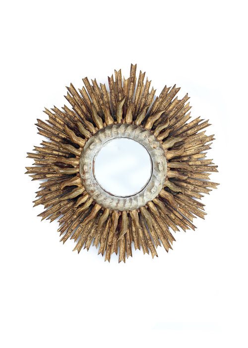 Antique sun mirror