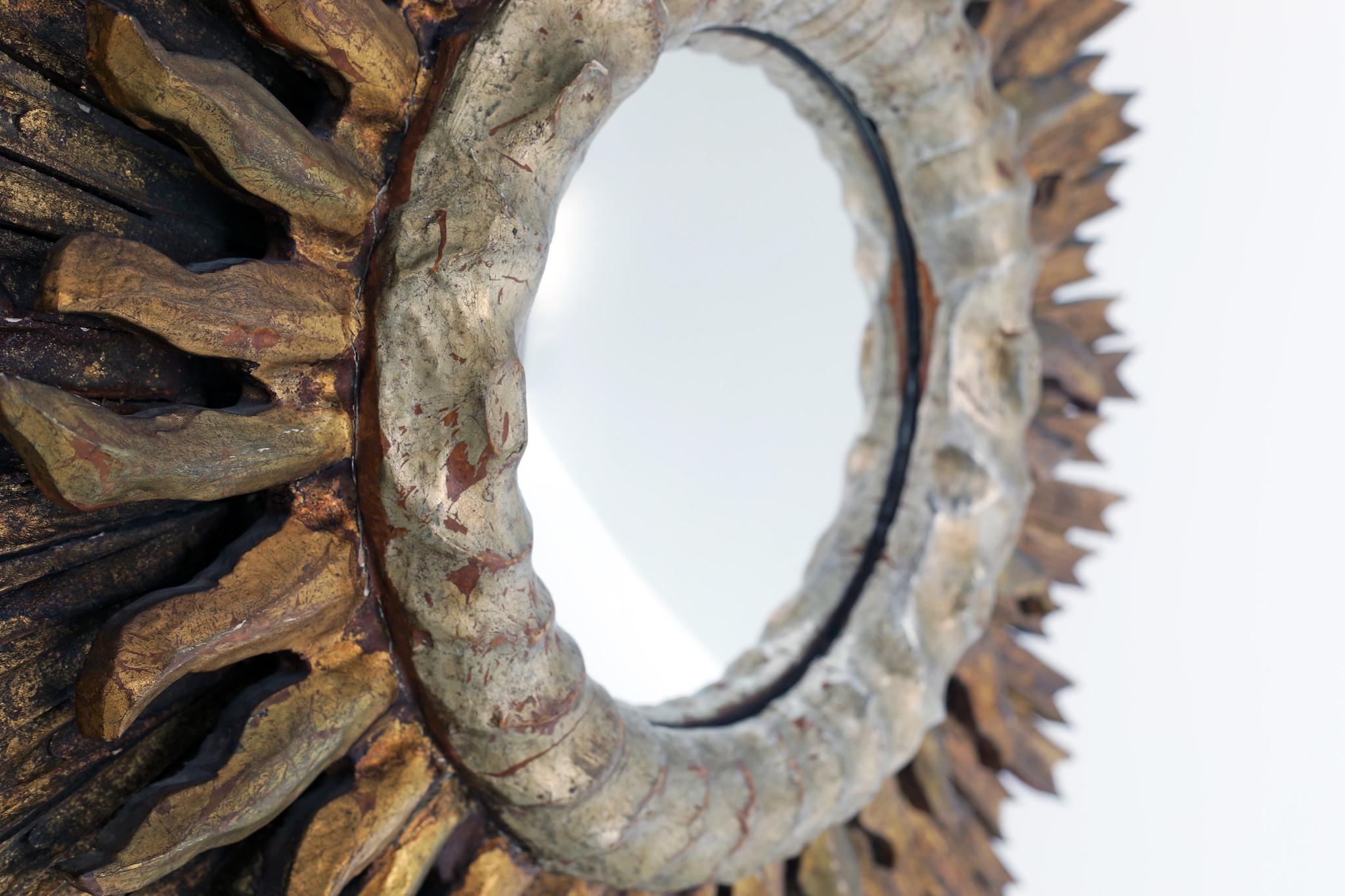 Beautiful antique sun mirror