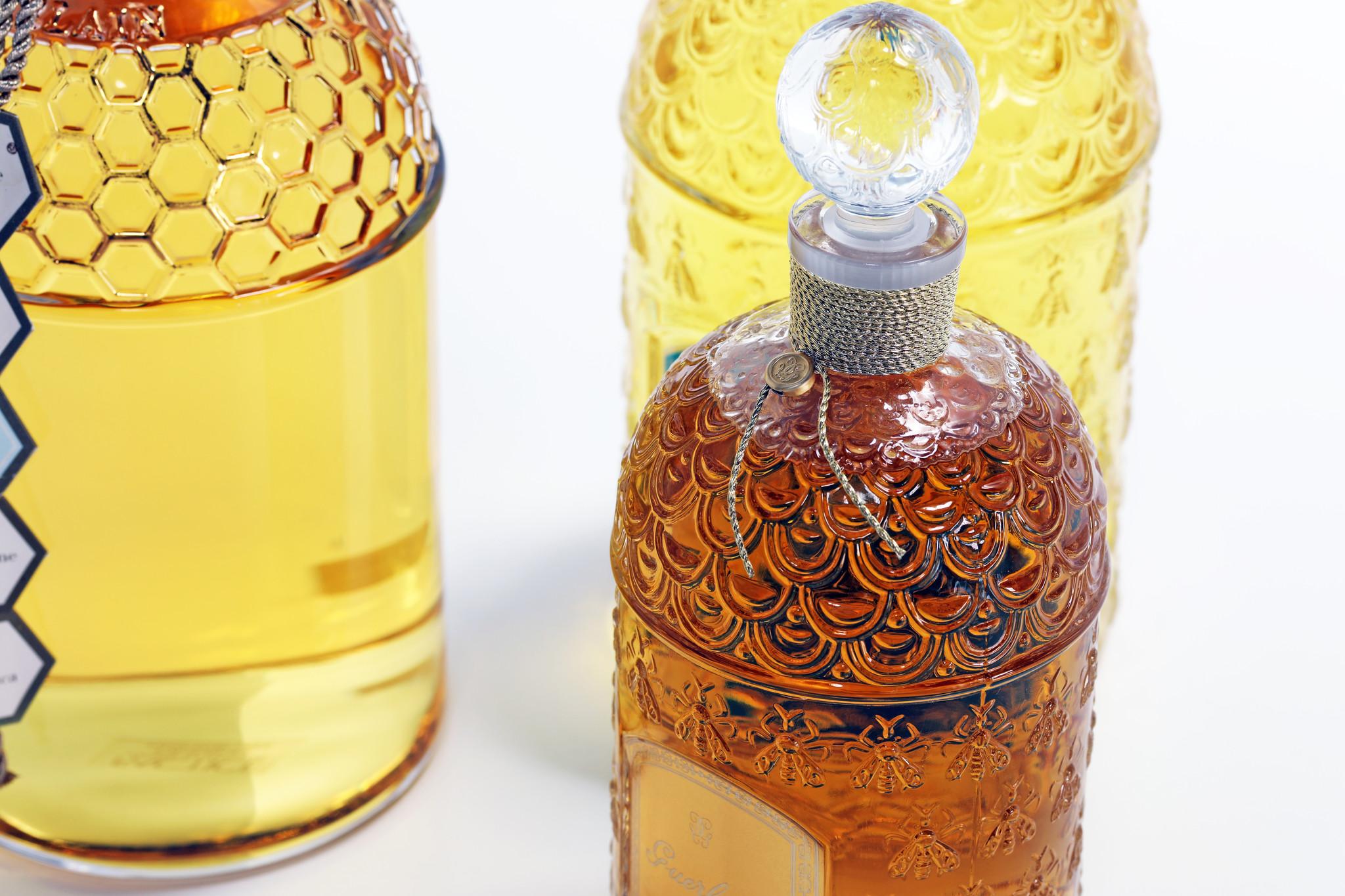 Set of large Guerlain perfume bottles