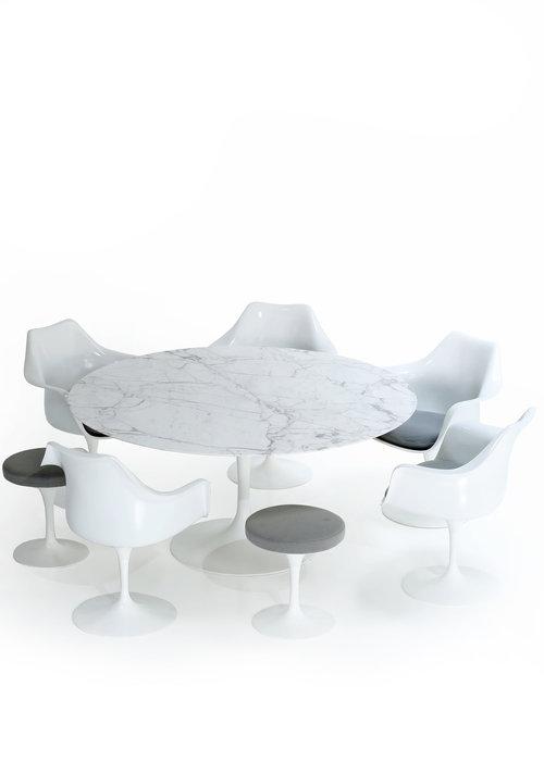 Marmeren Knoll Tulip tafel