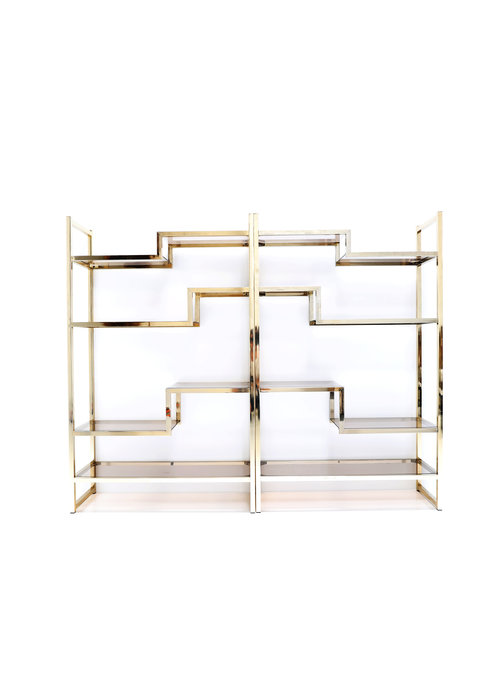 Vintage brass wall rack