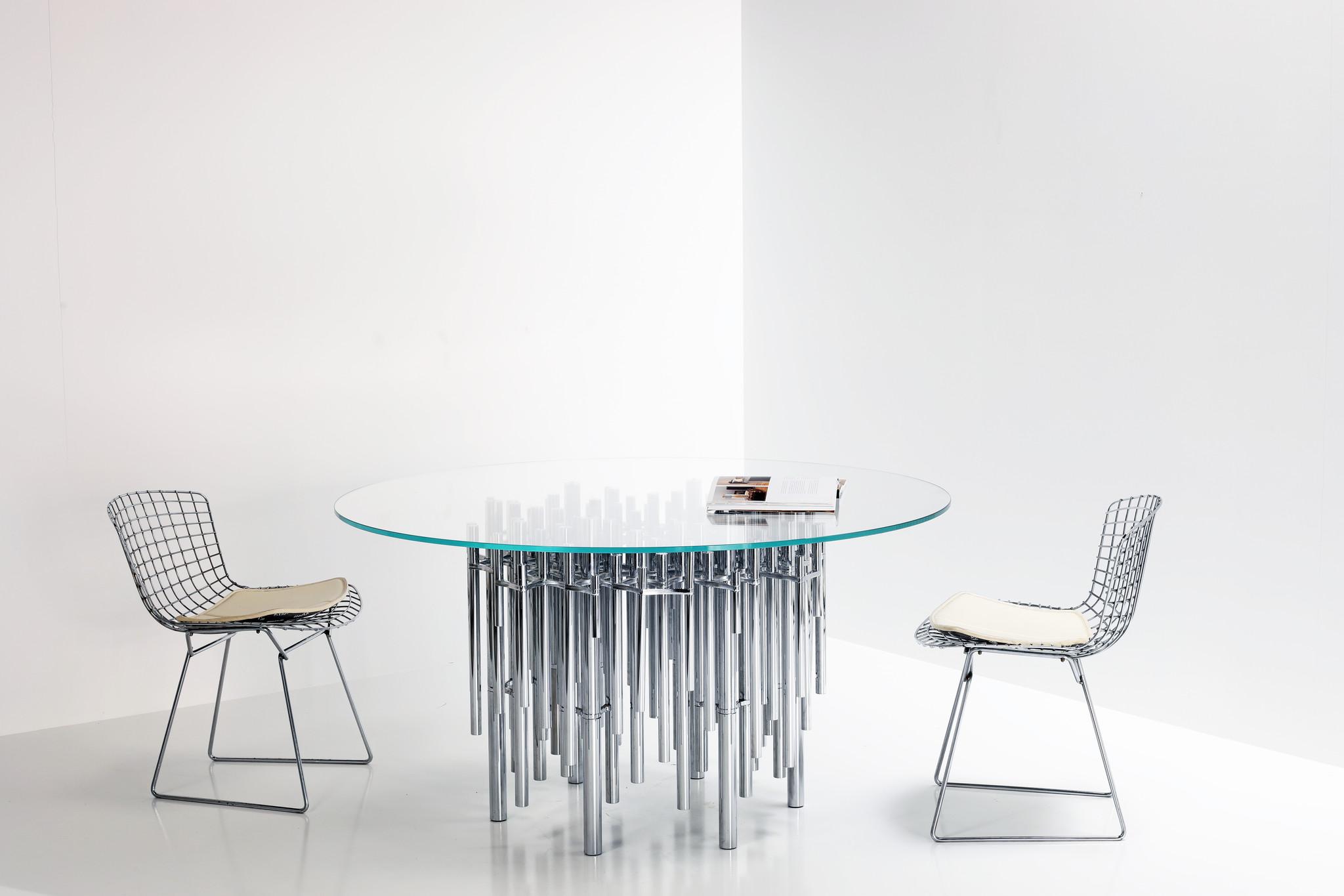 "Exceptional Piertro Ferruccio dining table ""Tuileries"""