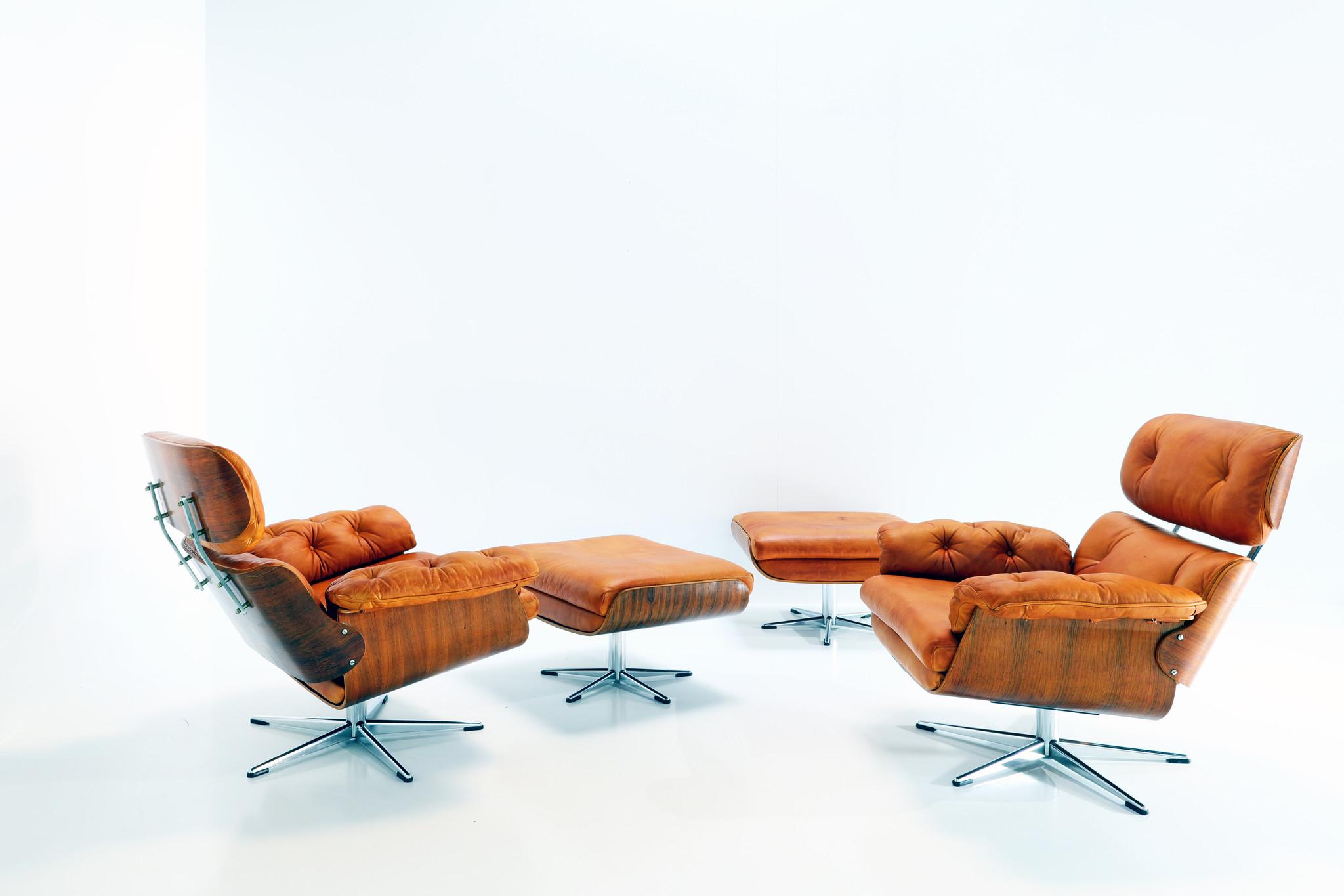 Lounge chair set Martin Stoll voor Giroflex, 1960's