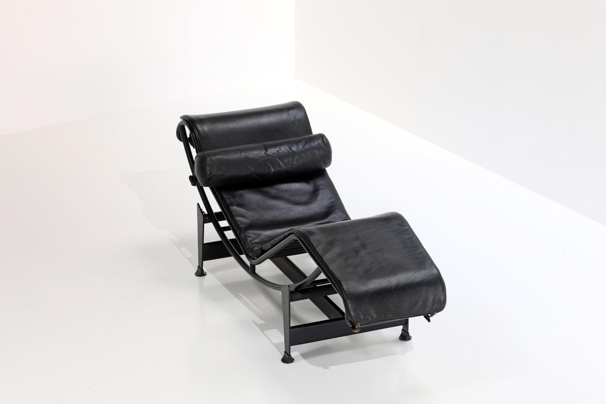 "Le Corbusier lc4 ""Black edition"", 1980's"