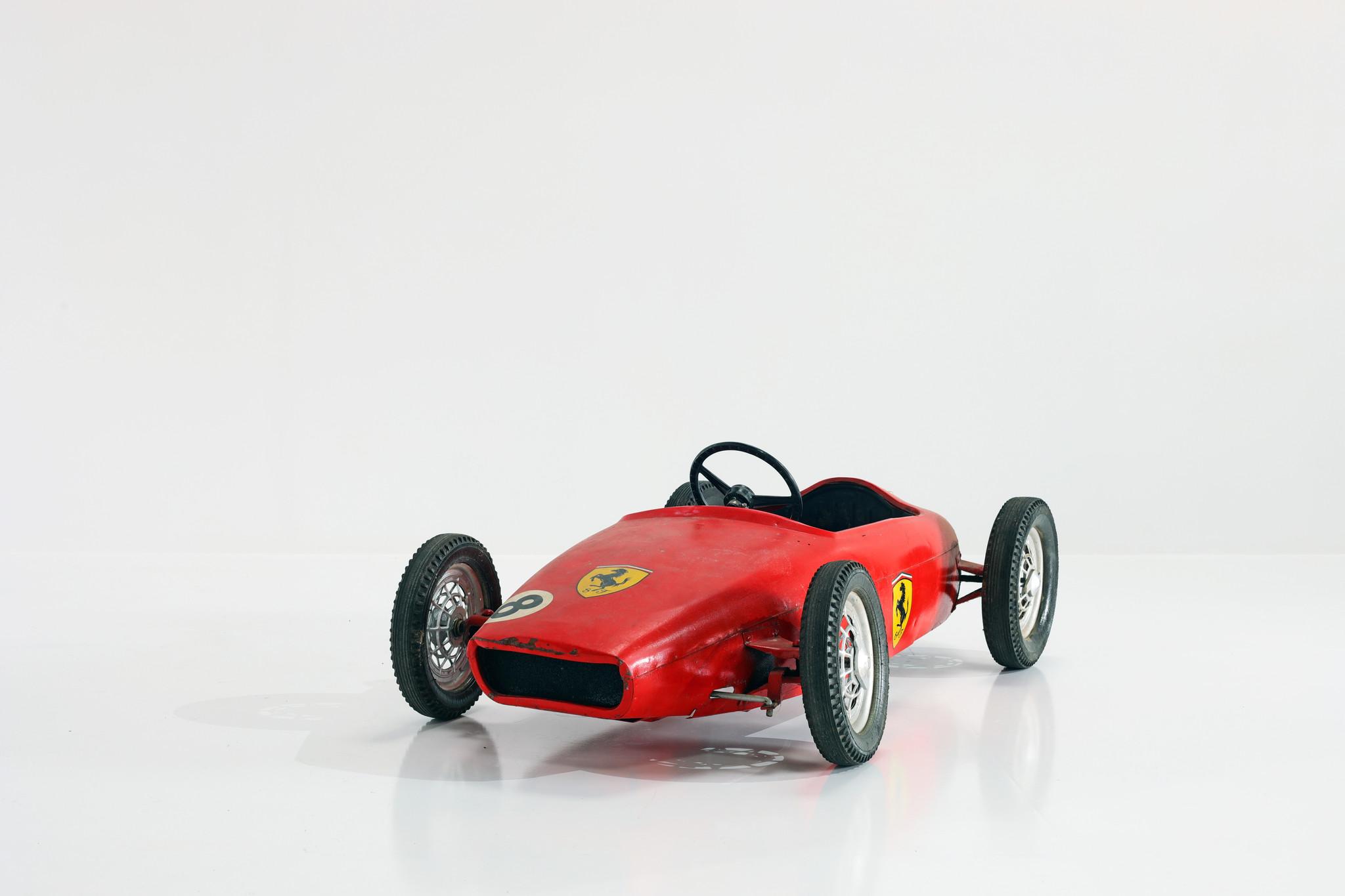 Original metal padal racing car, 1960's