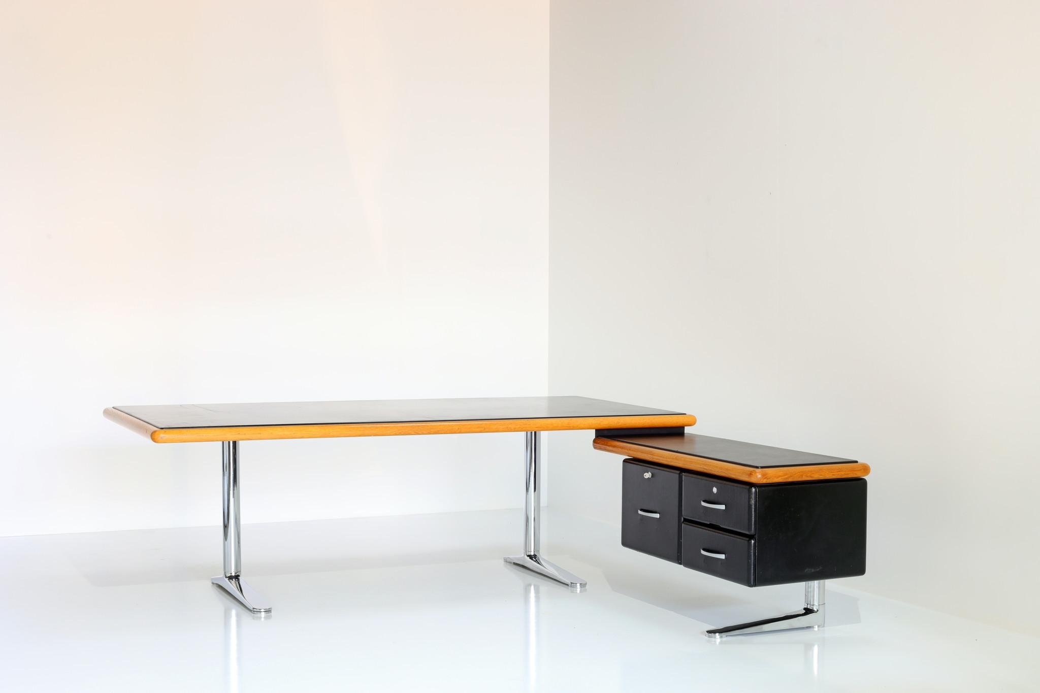 Director's desk designed by Warren Platner for Knoll, 1974