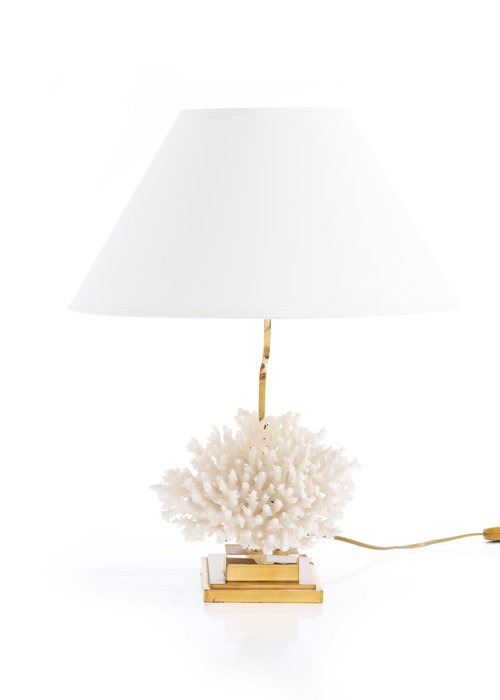 koraal tafellamp, 70's