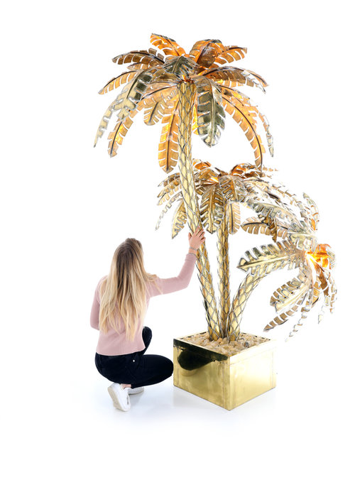XXL palm tree lamp