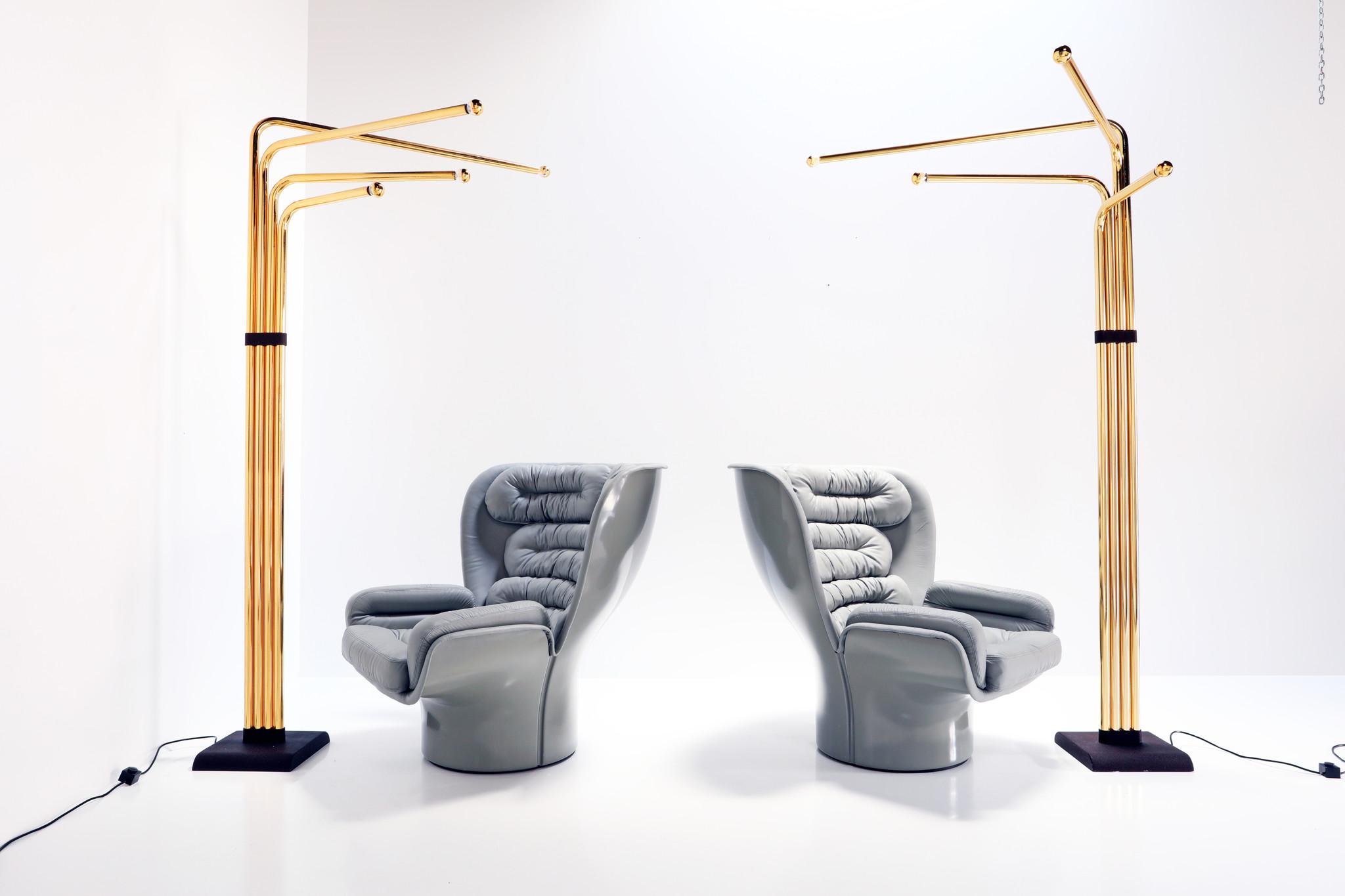 Italian floor lamp designed by Goffredo Reggiani, 1974