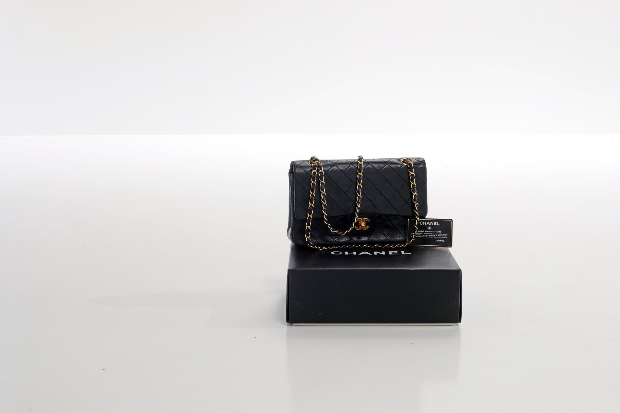 Vintage Chanel medium double flap bag