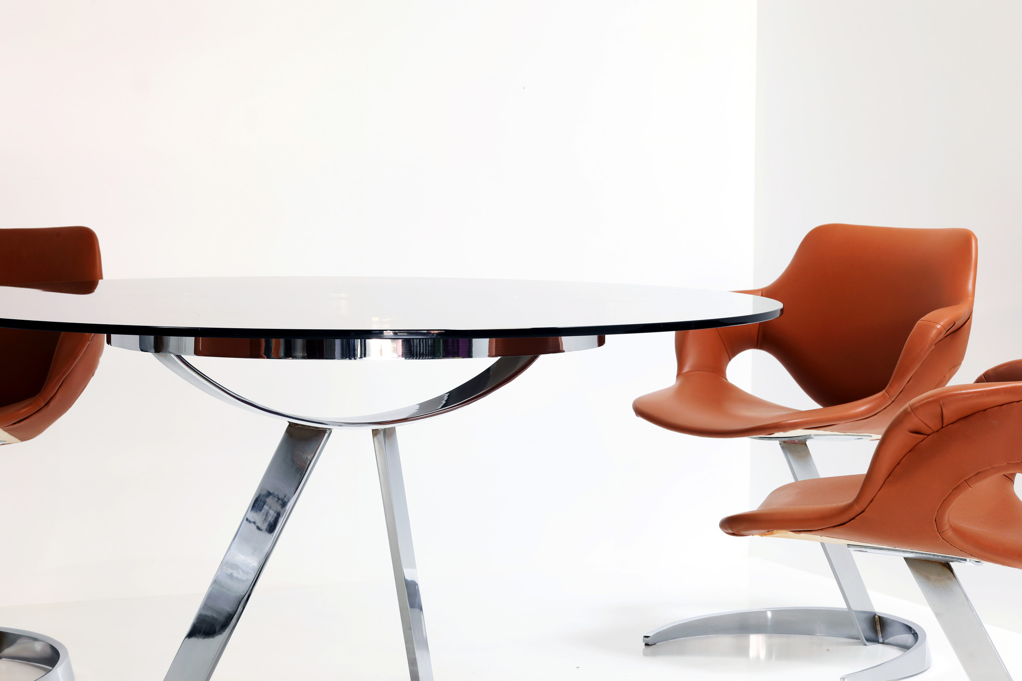 Dining set Scimitar by Boris Tabacoff voor Mobilier Modulaire Moderne, 1970's
