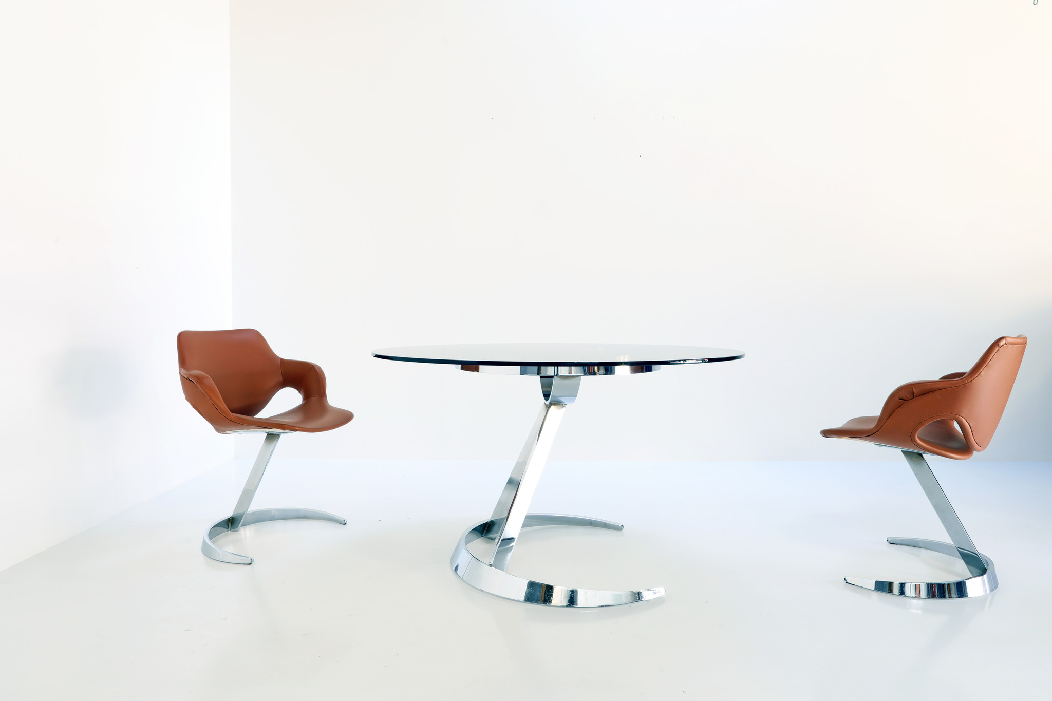 Dining set Scimitar by Boris Tabacoff for Mobilier Modular Moderne, 1970's