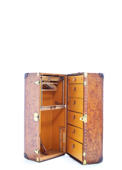 Leather Louis Vuitton wardrobe, 1920's