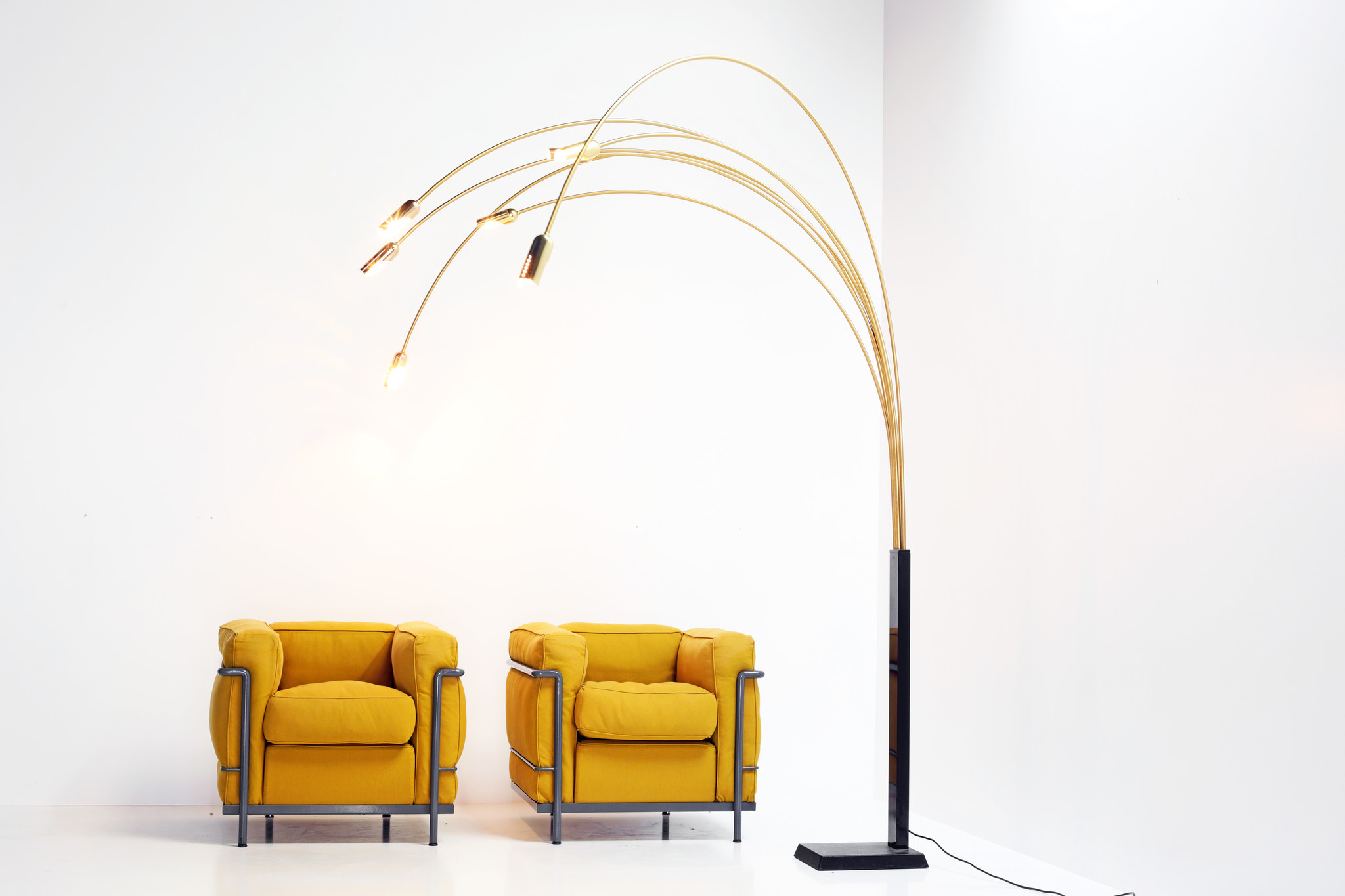 Italian vintage arc lamp with 7 arms