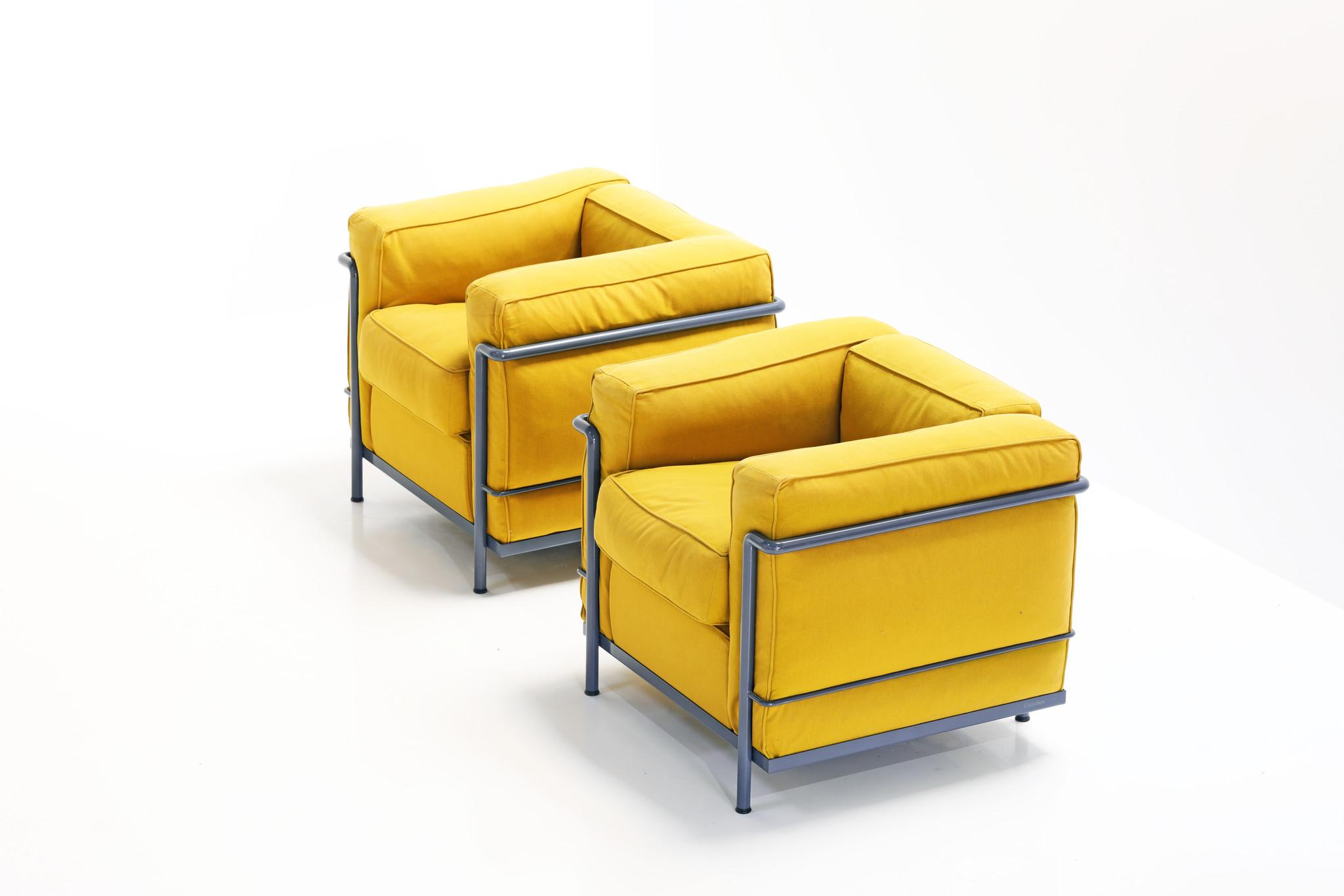 Koppel Le Corbusier Lc2 voor Cassina
