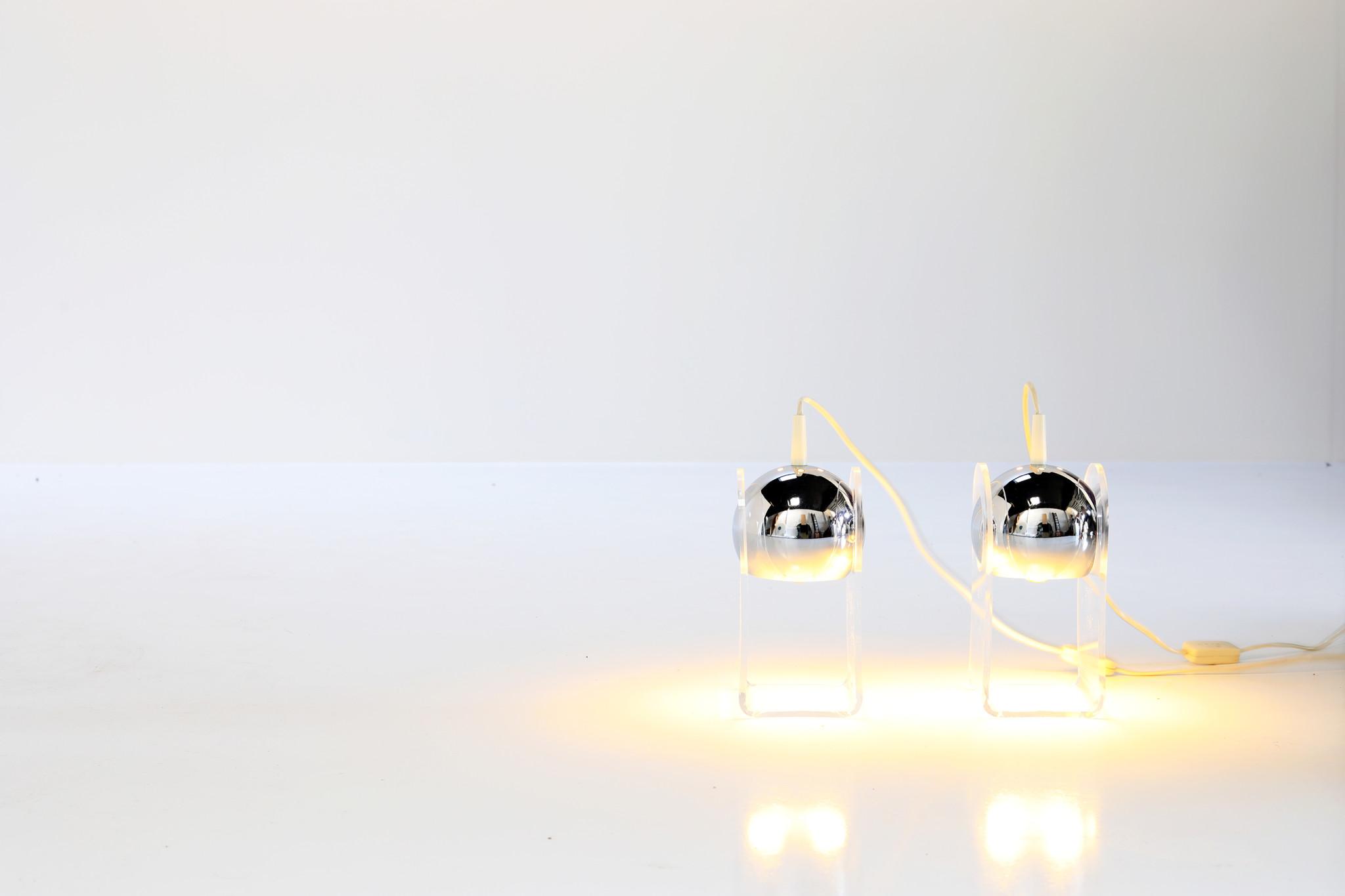 Gino Sarfatti table lamp set, 1968