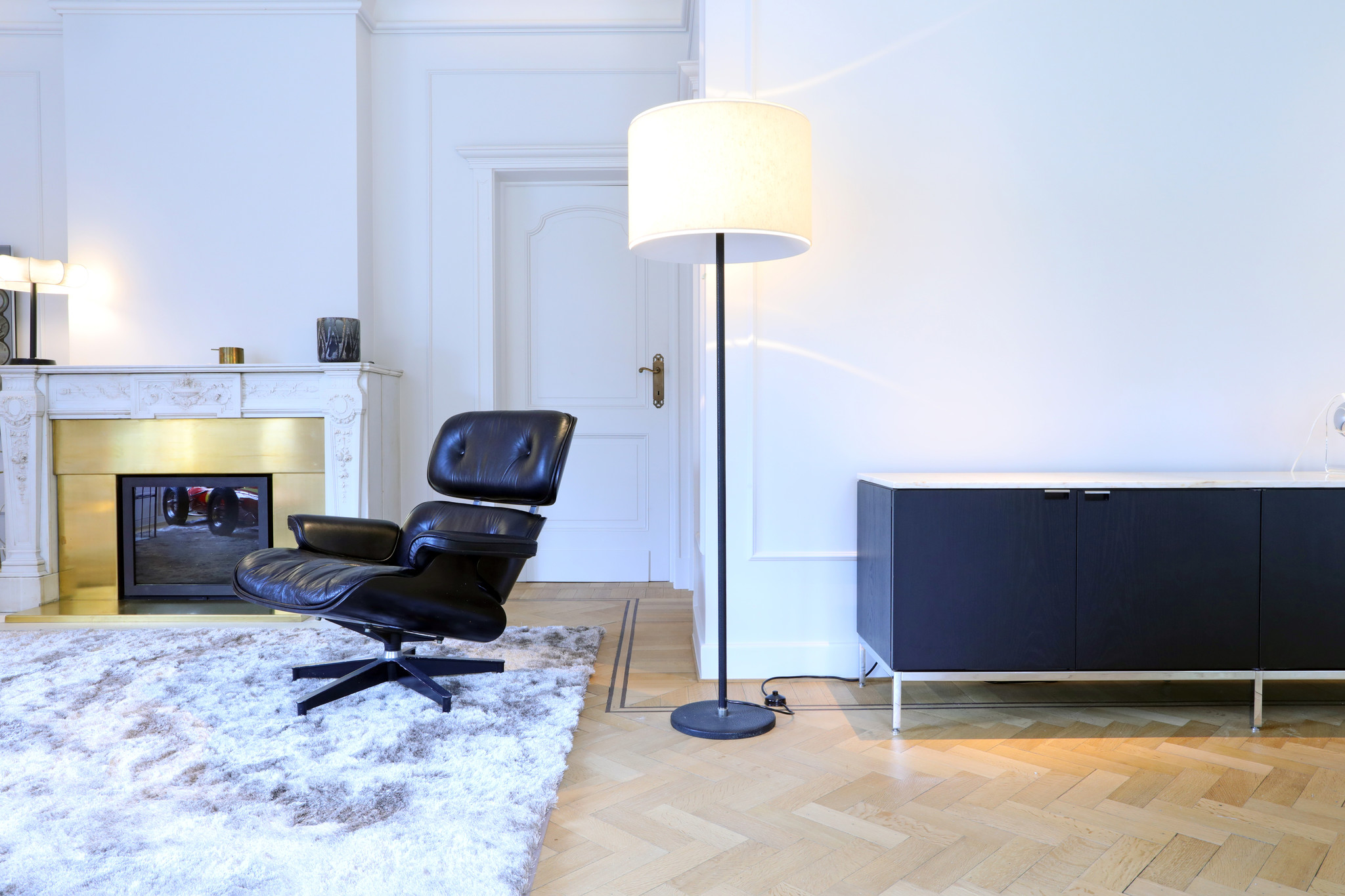 """Vintage Eames Lounge Chair """"Black Edition"""", 1970's"""