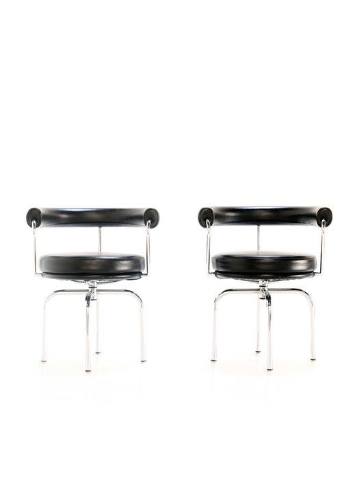 LC7 swivel armchairs Le Corbusier