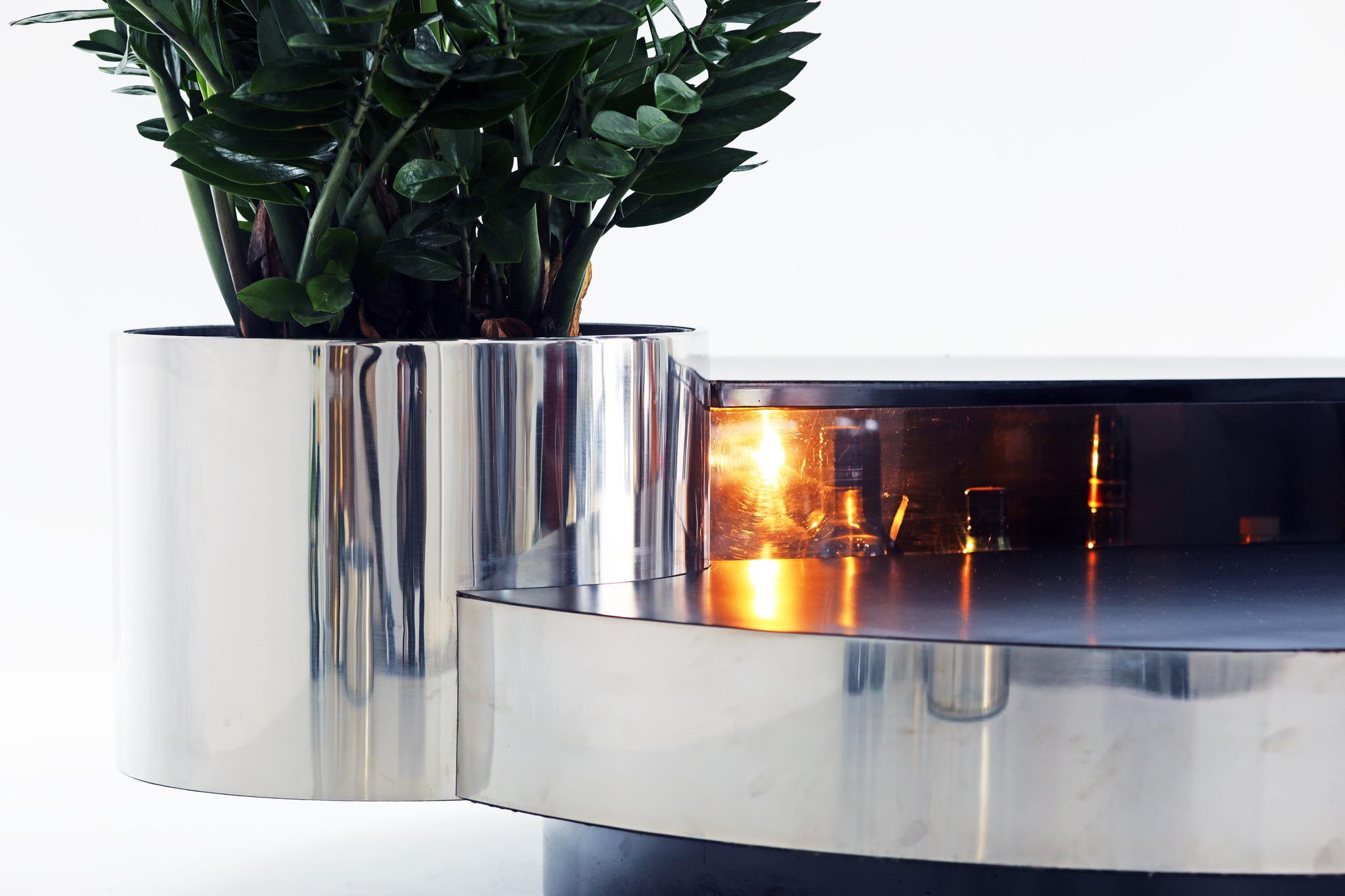 Massimo Papiri coffee table bar for Mario Sabot, 1970s