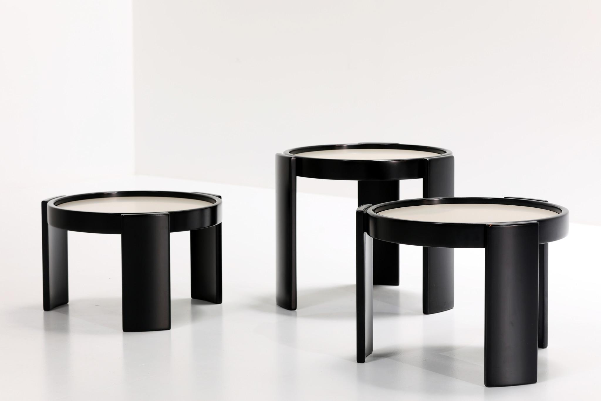 GIANFRANCO FRATTINI LOW TABLE SET FOR CASSINA, 1966
