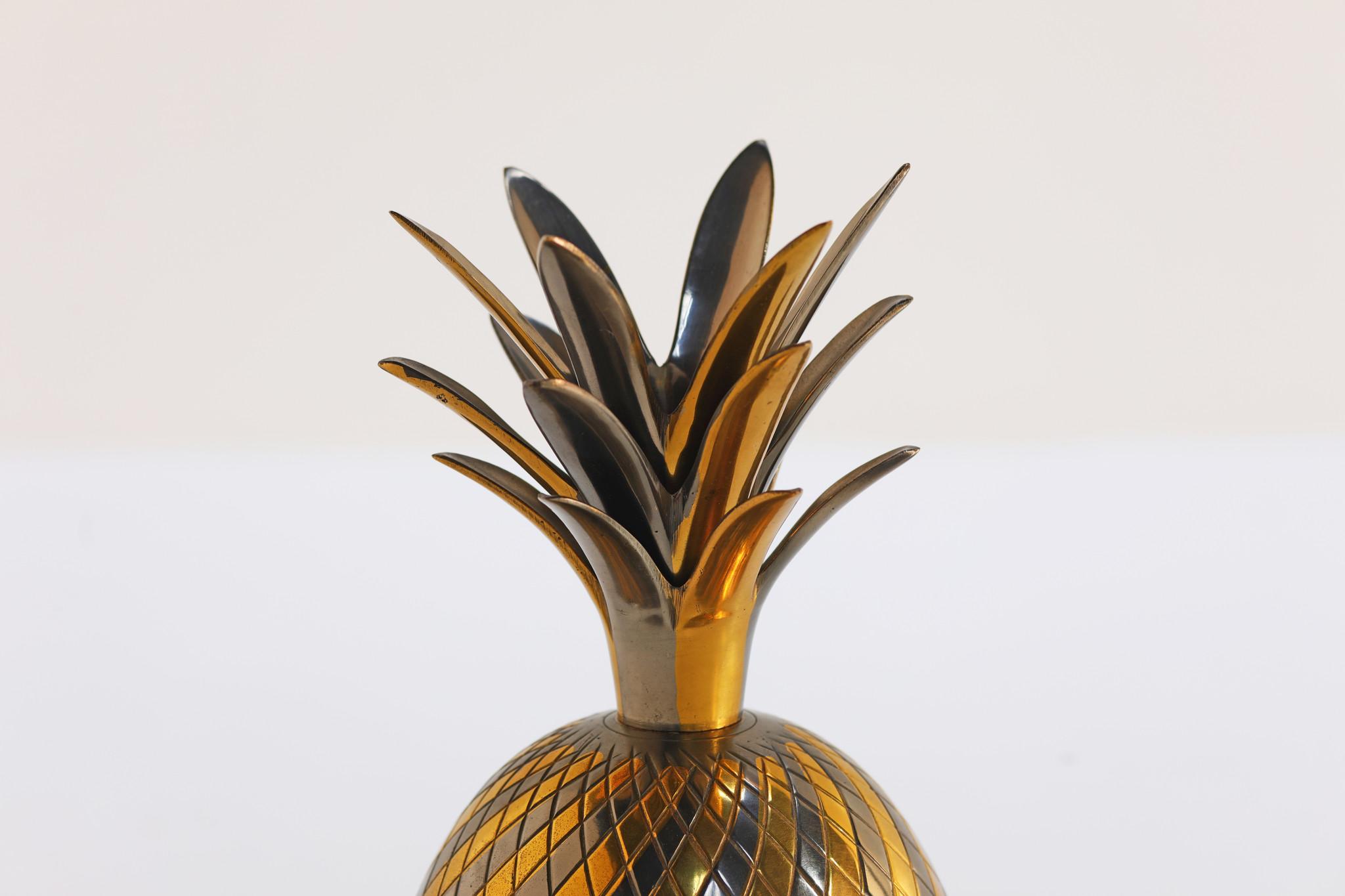 Pineapple ice bucket by Maison Jansen, 1960's