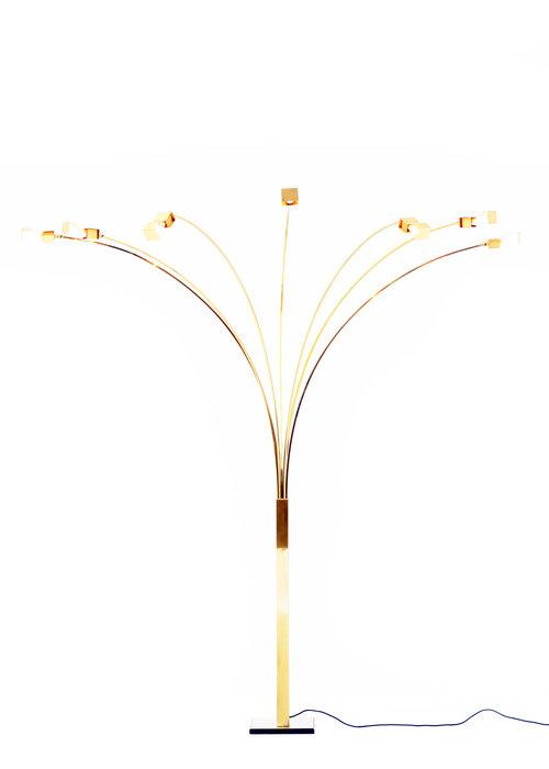Italiaanse vintage booglamp, 1970s