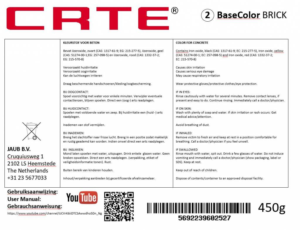 CRTE NR.2 BaseColor, Ultra Fine Pigment for Concrete
