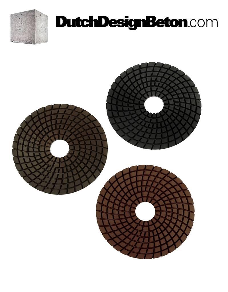 StoneTech StoneTech Combo Pack Diamond polishing pads grit 100, 200, 400