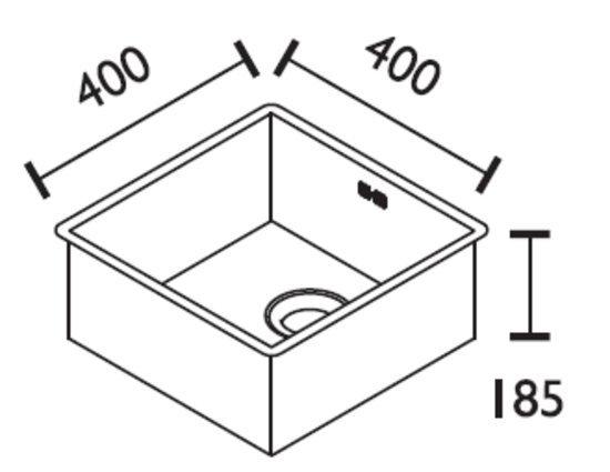 ABK Bingara 5010fvi Sink 50 x 40 x 10 cm