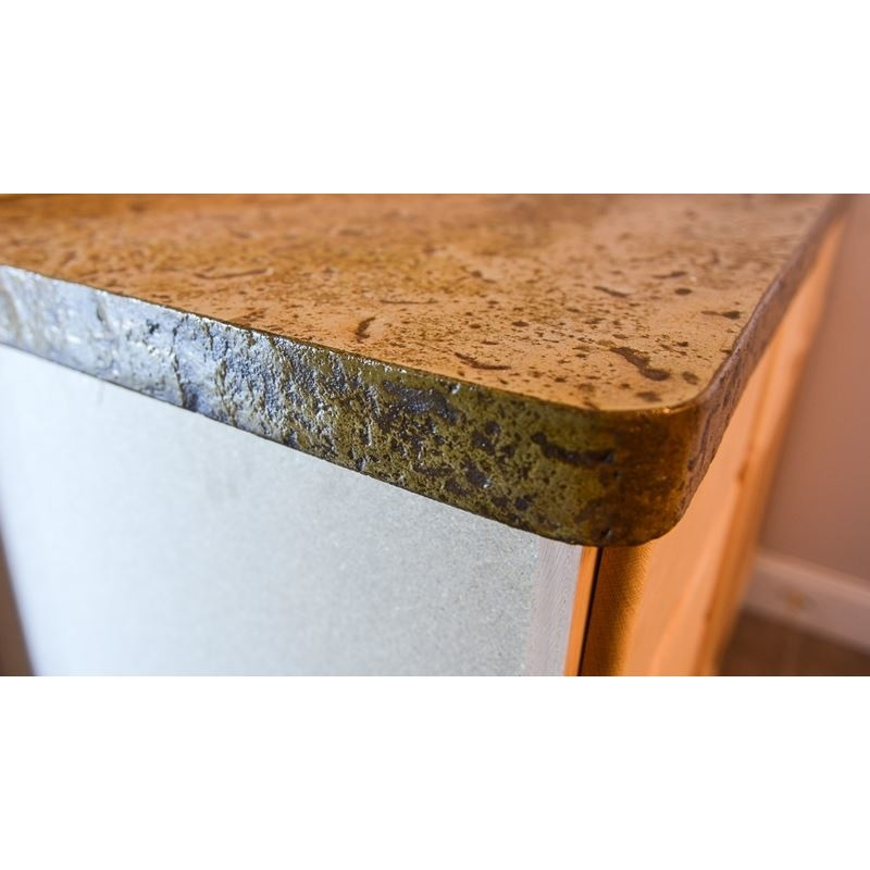 Concrete Countertop Thin Insert Travertine