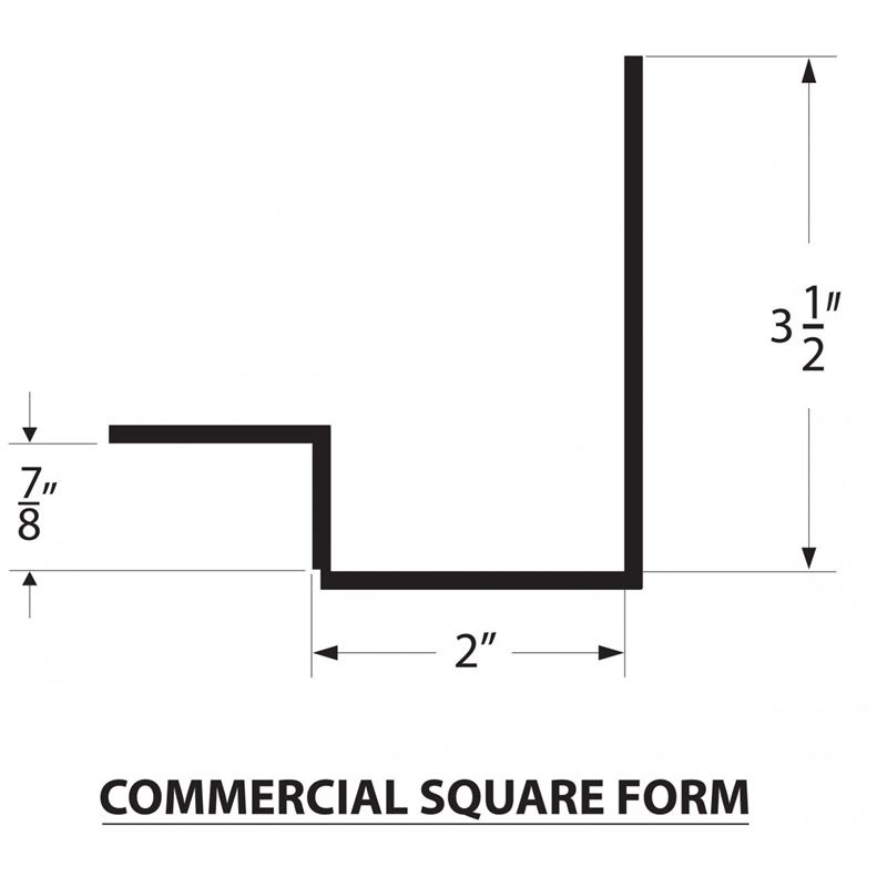 Concrete Countertop Commerical Square Bar Form - 89mm