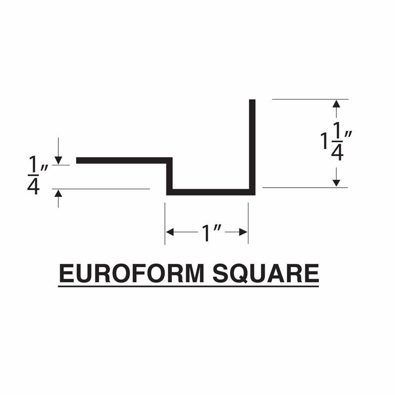 Concrete Countertop Square Edge - EuroForm + backwall profile 32mm
