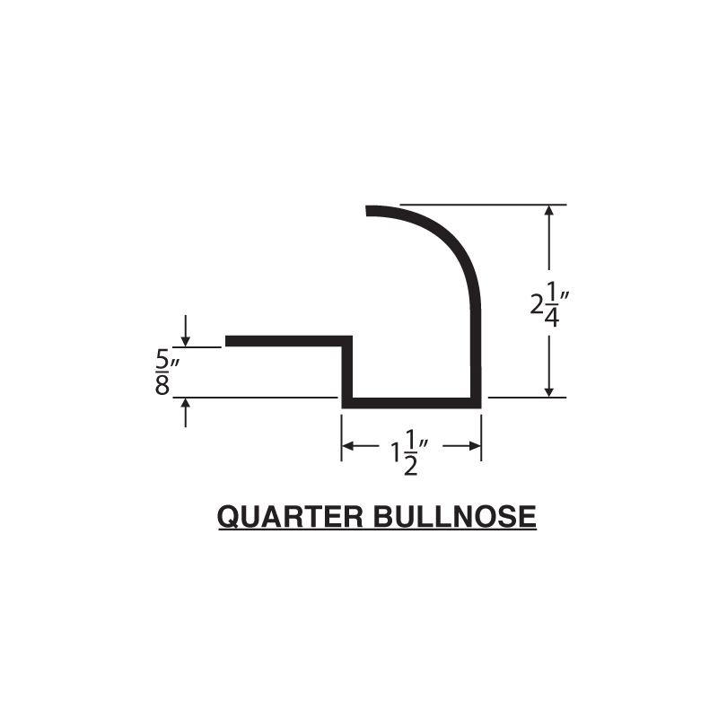 Concrete Countertop Quarter Bullnose -57mm